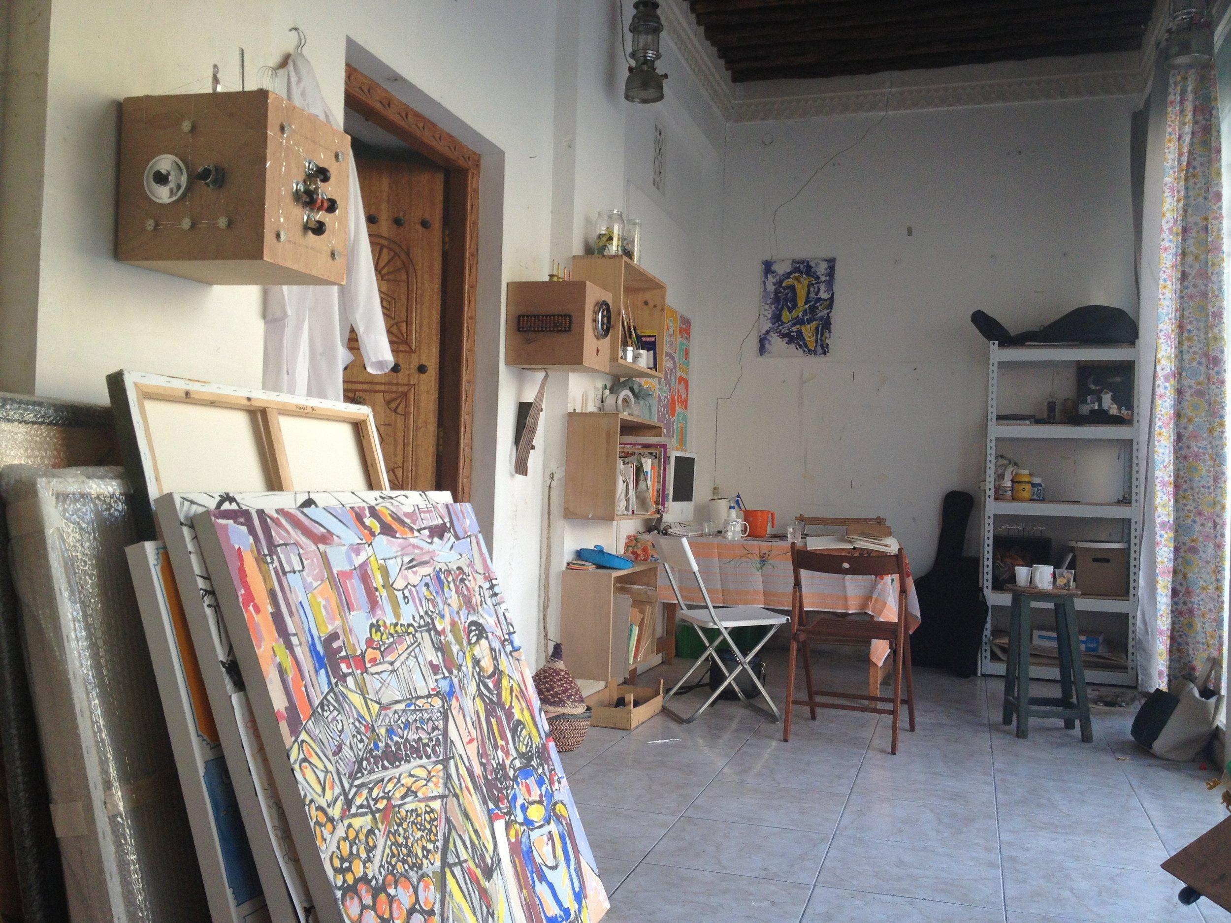 Inside Nasir Nasrallah's studio