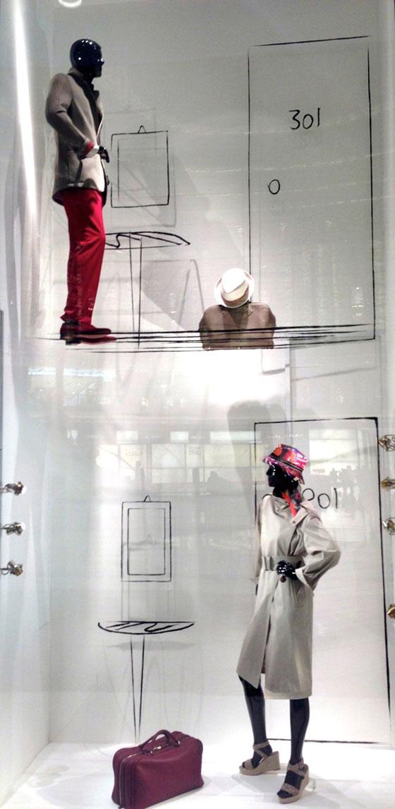 Hermès window display by Analogia, image courtesy Analogia