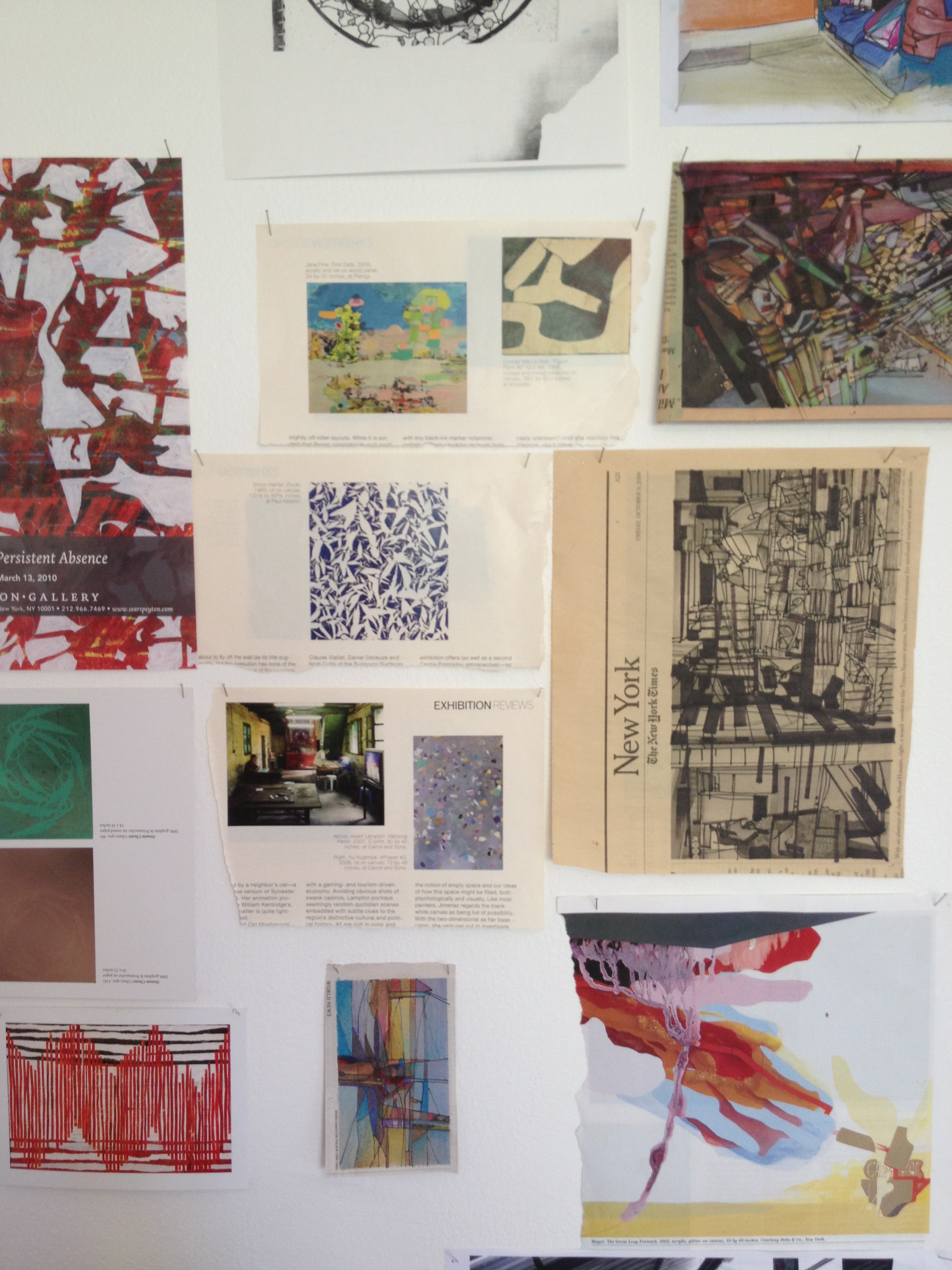 Inspiration, drawings and experiments in Jill Thomas Whately's studio