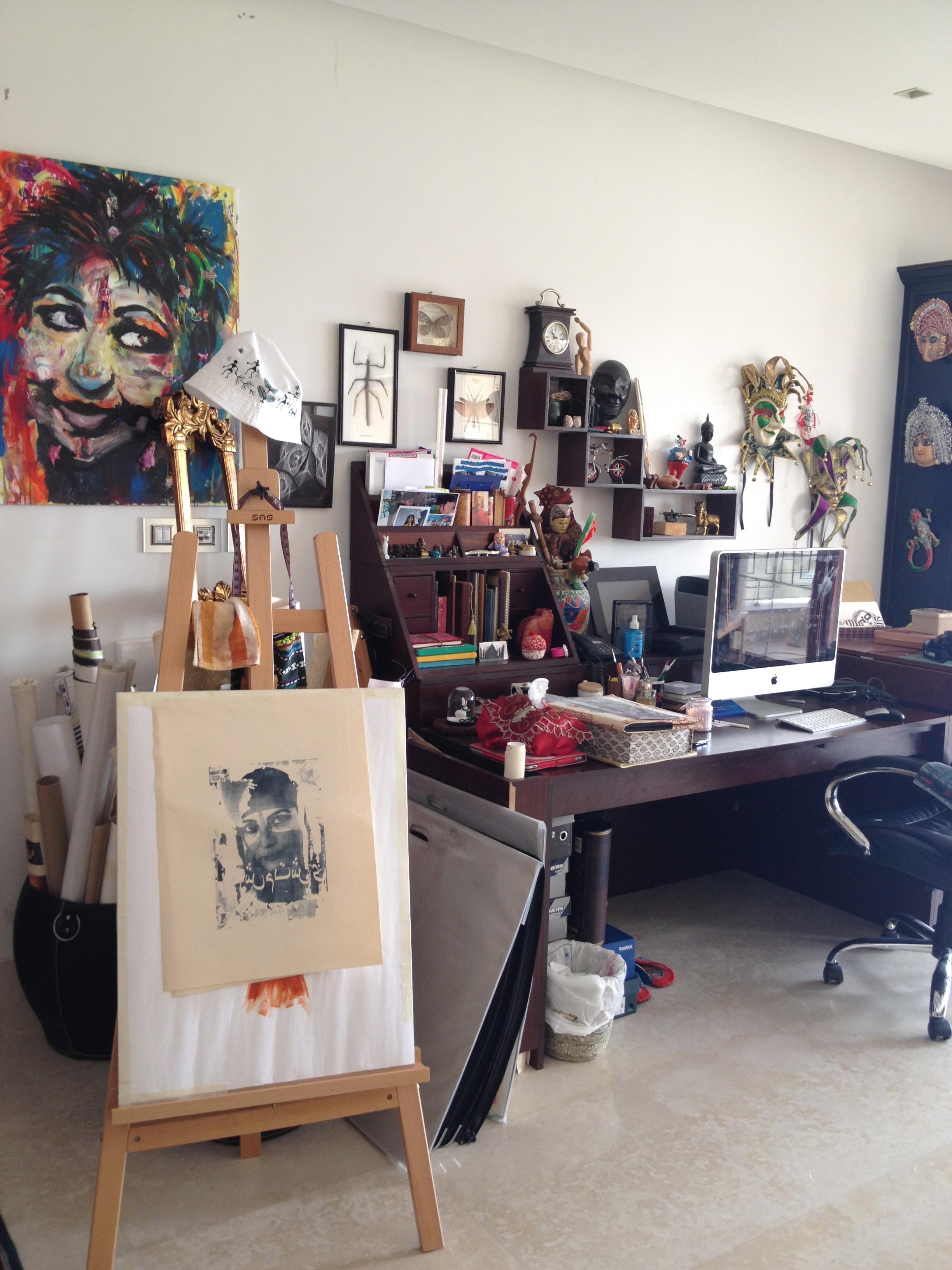 Nivedita Saha's studio
