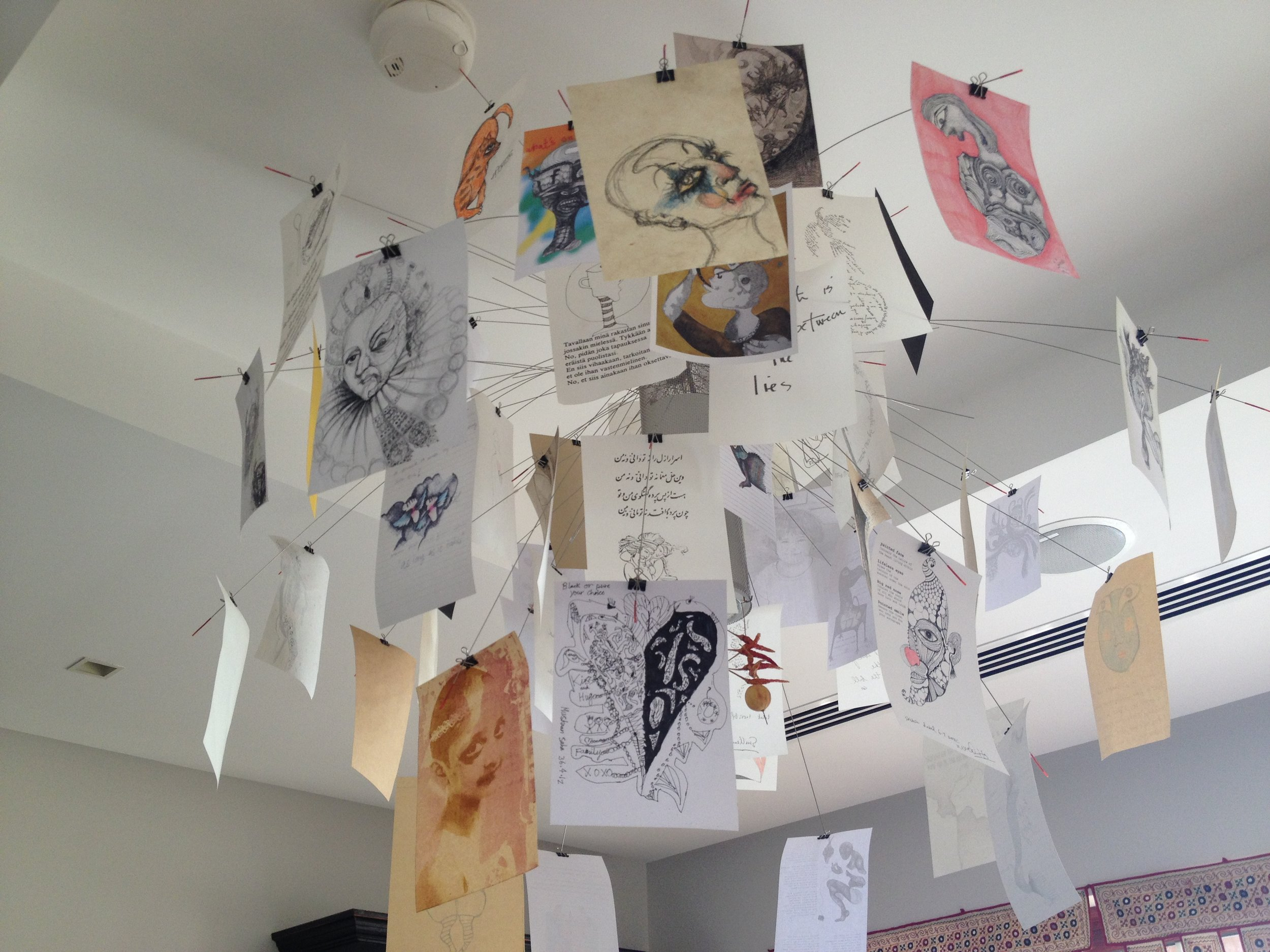 Daily drawings in Nivedita Saha's studio