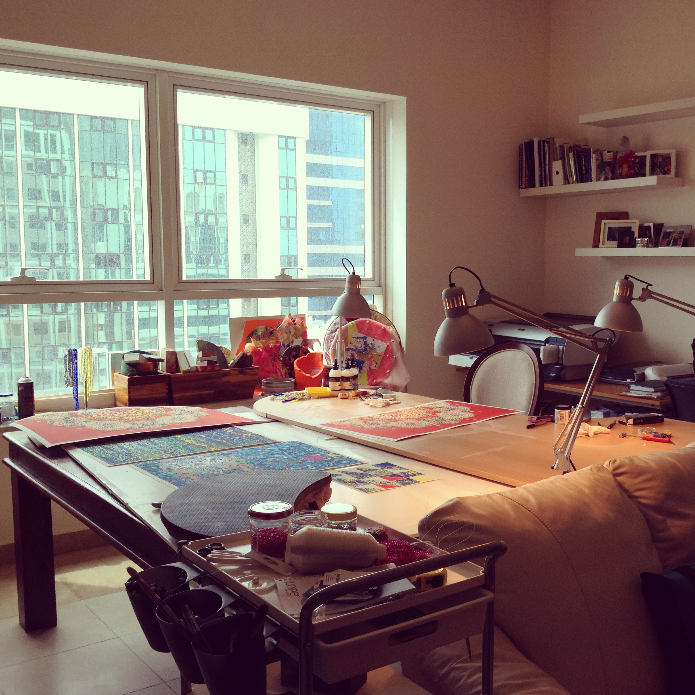 Julia Ibbini's studio