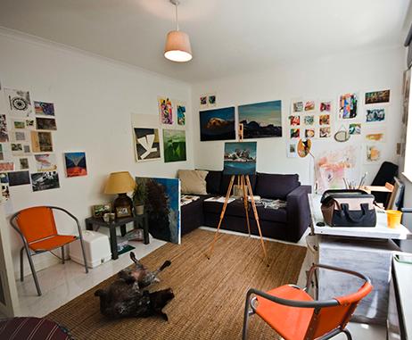 Jill Thomas Whatley's studio in Dubai