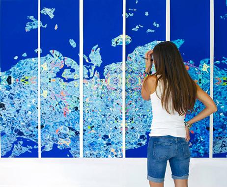 Julia Ibbini at work in her studio in Abu Dhabi