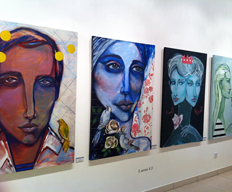 Lama Khatib's artwork exhibited at Mattar Gallery in 2013