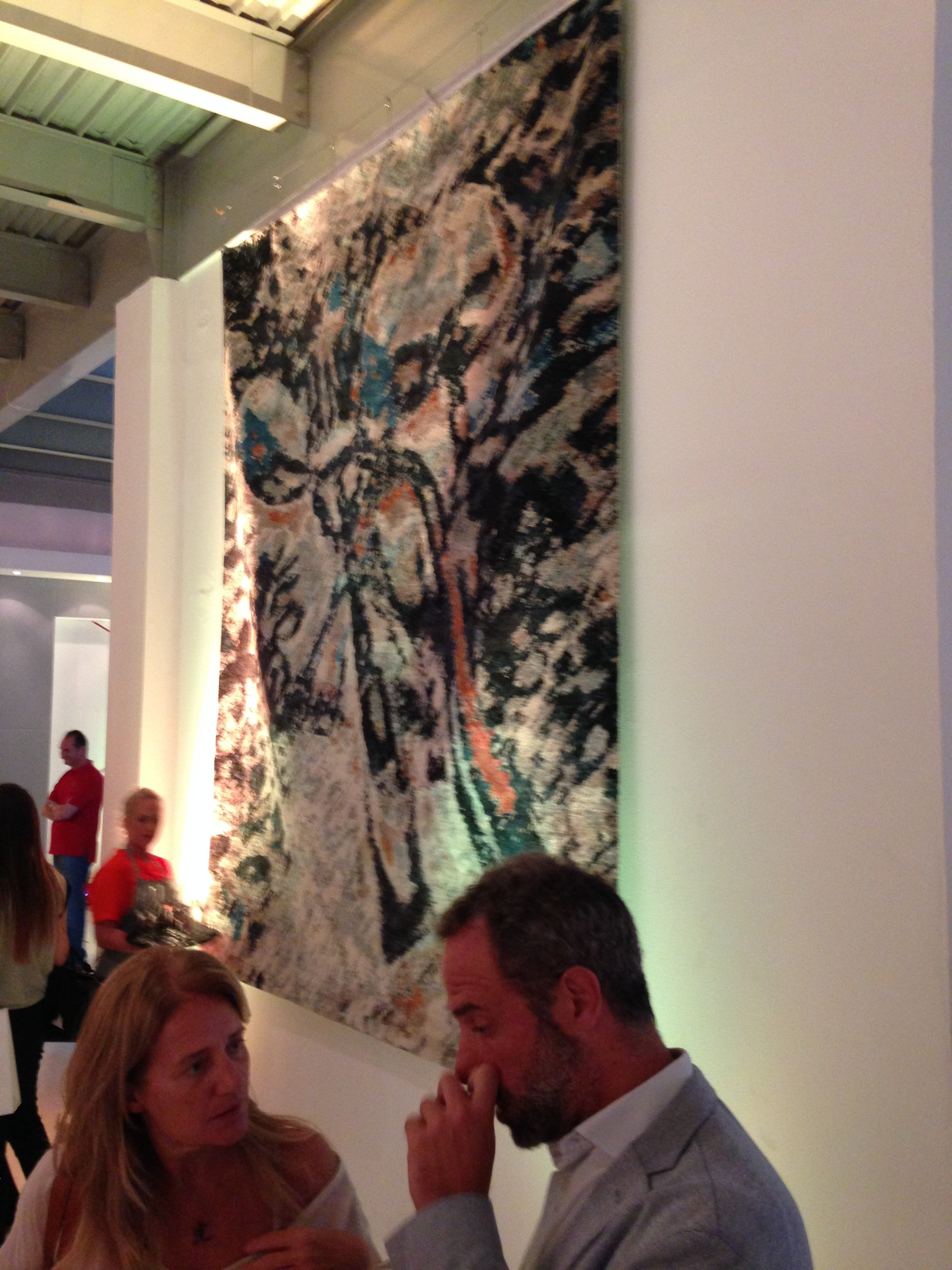One of design studio Ayka's fantastical abstract rug creations on display at The Mine