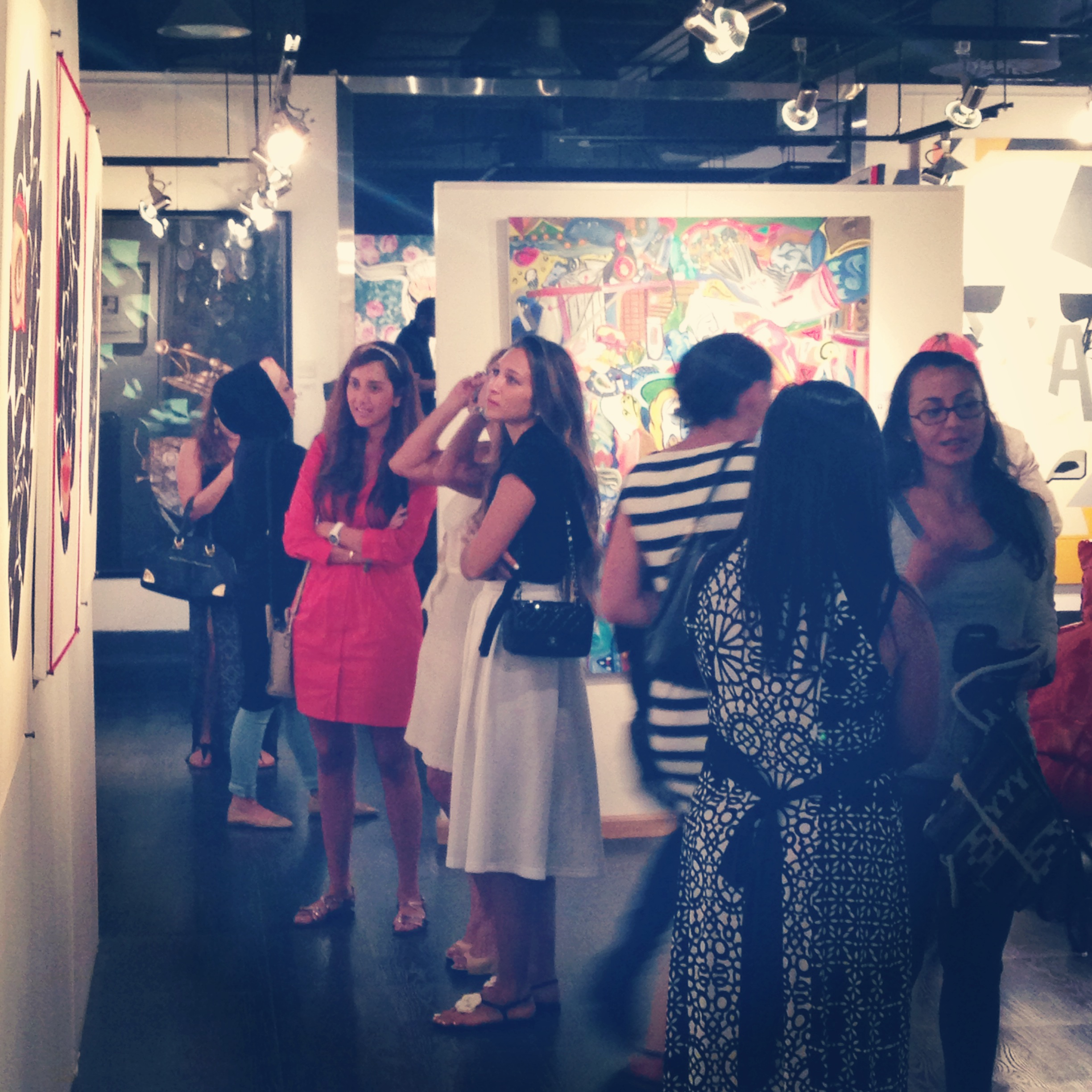 The art hungry crowds at Pro Art