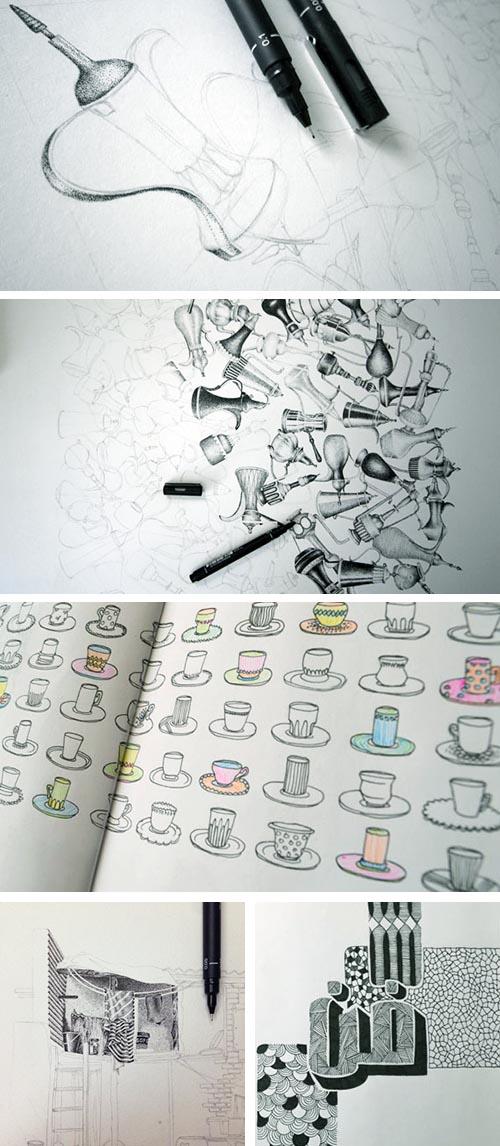 artworks collage