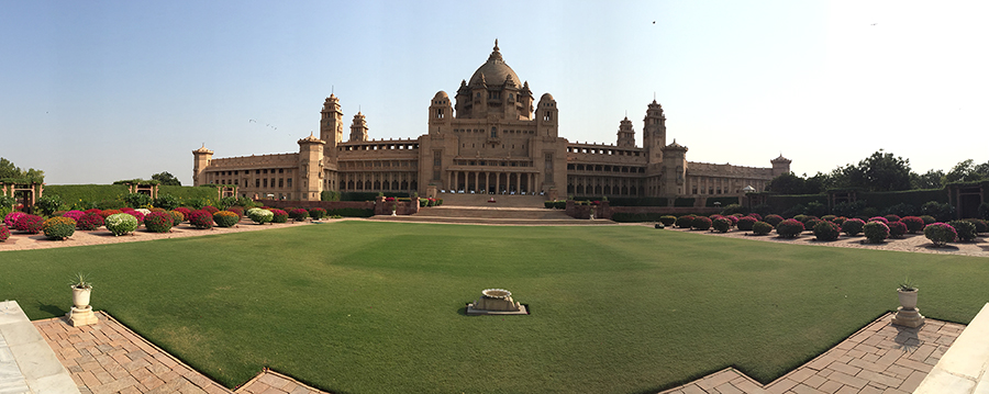 The stunning Umaid Bhavan Taj Hotel in Rajasthan