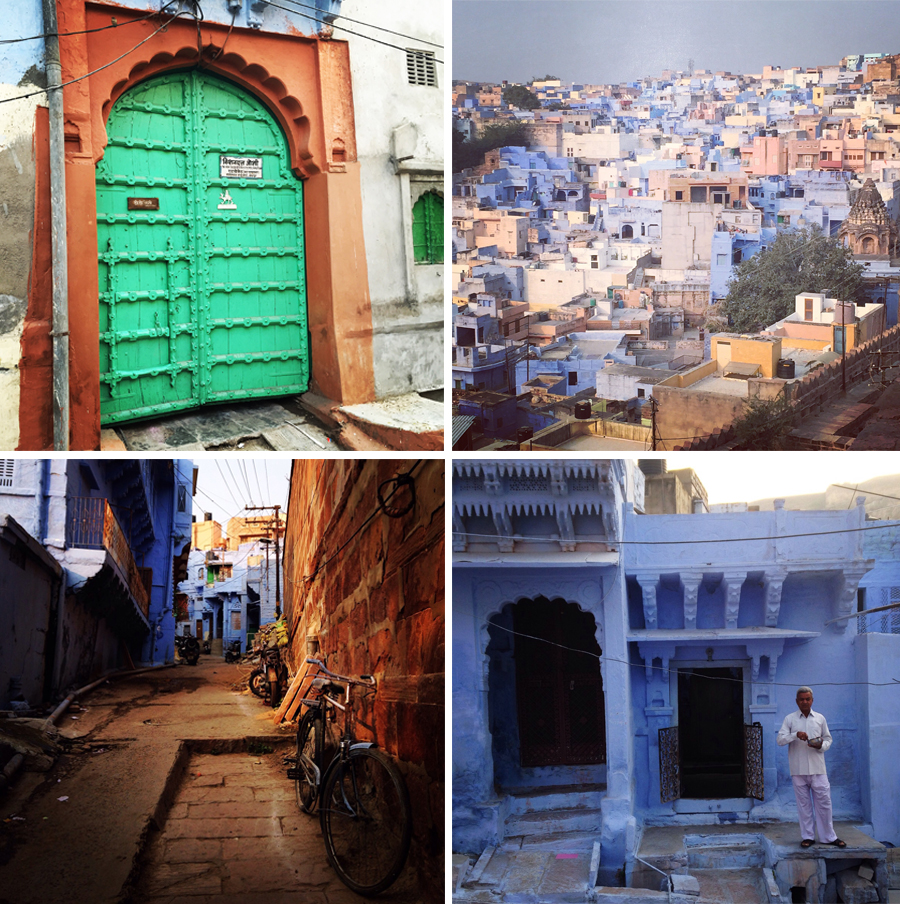 Some sights in Jodhpur, known as India's Blue City due to the vividly painted blue houses