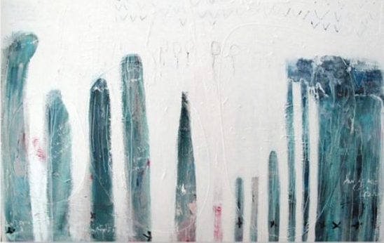 Sea Spray Series Dubai. Acrylic oil wax mixed media on canvas. 180 x 120 cm. Courtesy of the artist.