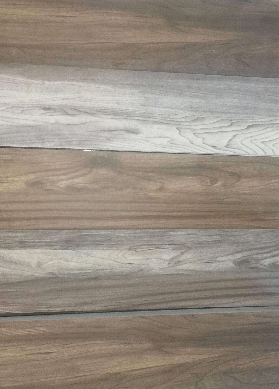 Wood look porcelain
