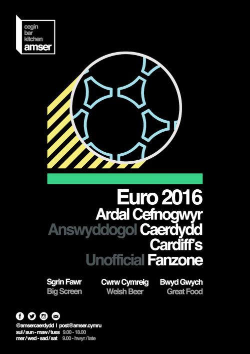 Poster Euro 2016  Yr Hen Lyfrgell, Caerdydd (2016)