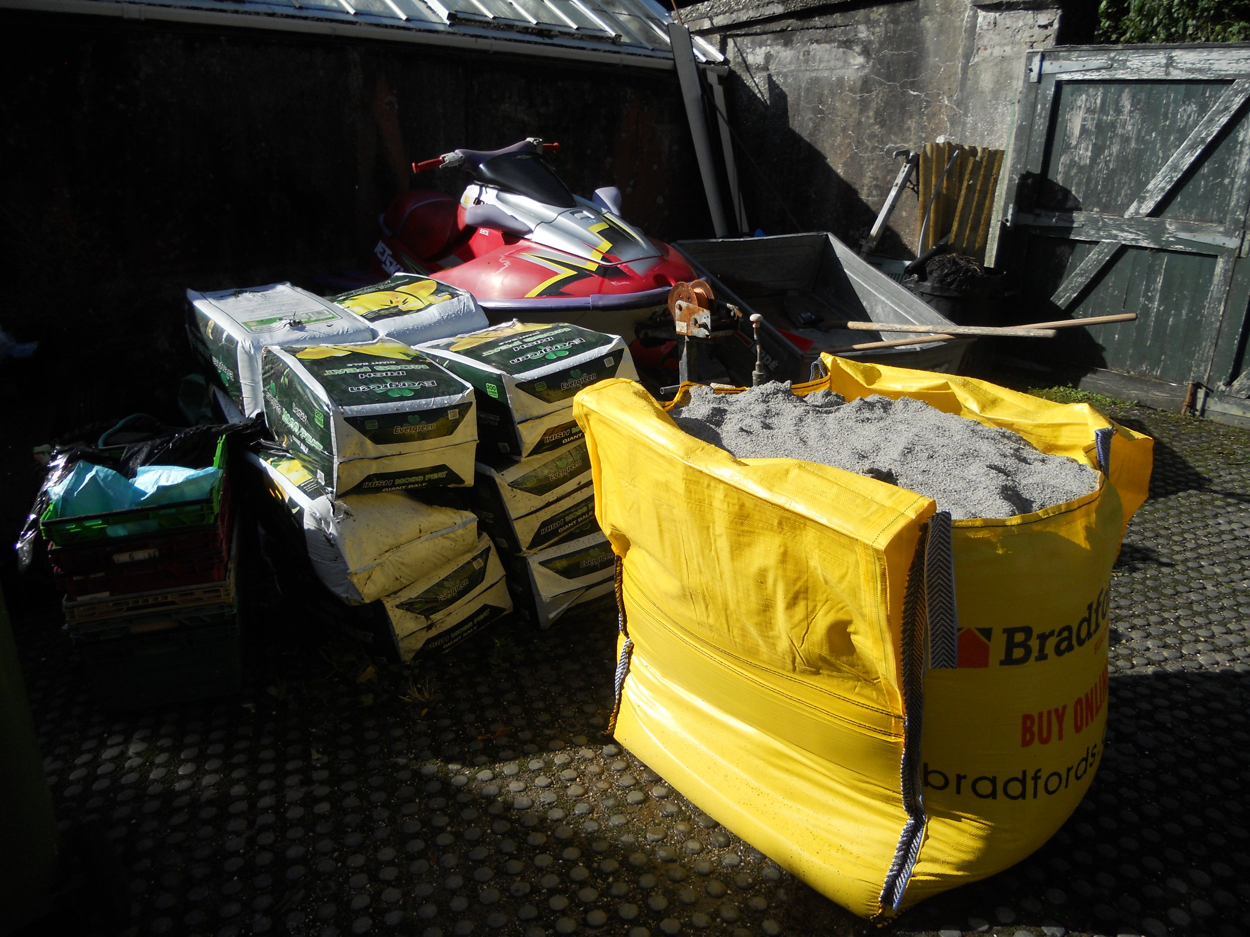 Peat and Sand supplies for the nursery.JPG