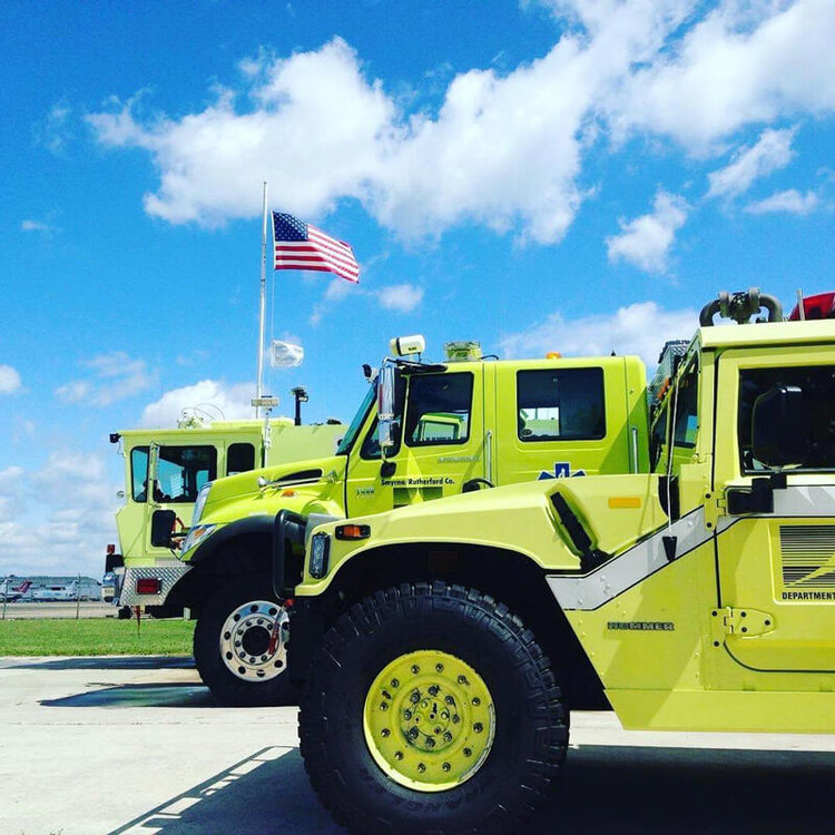 Emergency Vehicles on the Smyrna / Rutherford County Airport Authority runway