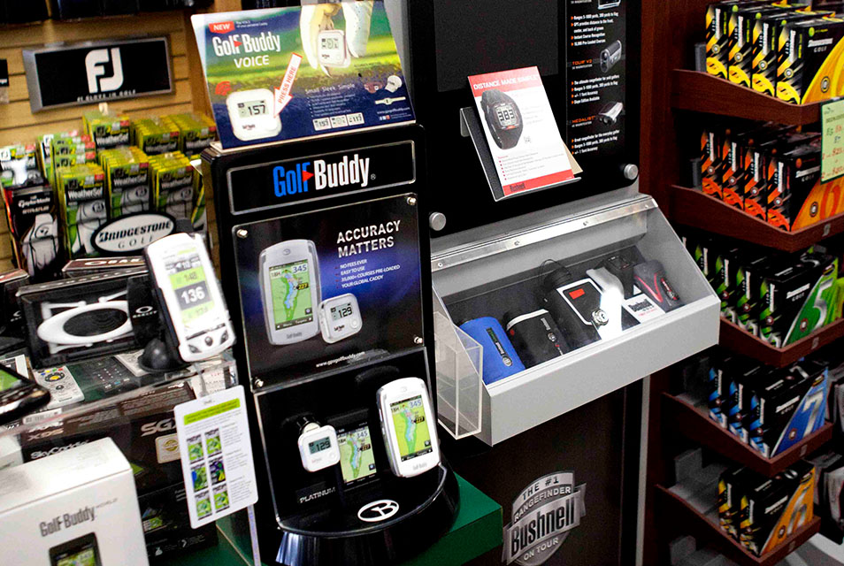 Technology - We have the latest technology for Lasers and GPS from Bushnell, Golf Buddy, SkyCaddy, and Callaway UPro.