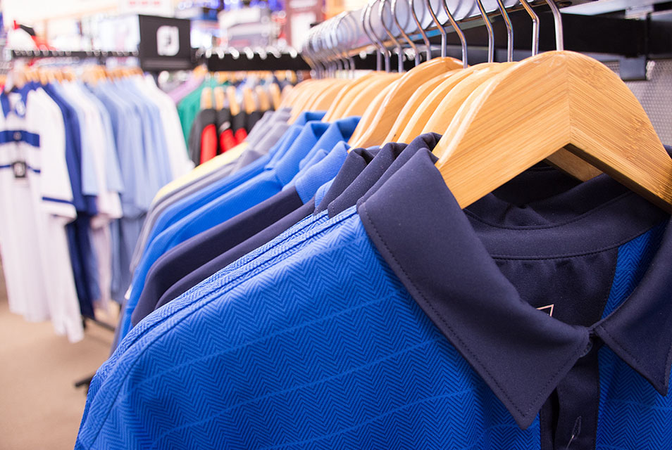 Apparel - Whether it is about the image, the status, or the comfort for you, we have exactly what men and women need to look their part. Shirts, shorts, pants, jackets from multiple brand names - Adidas, NIKE, Puma, Footjoy, Under Armour, Oakley, and Ashworth.