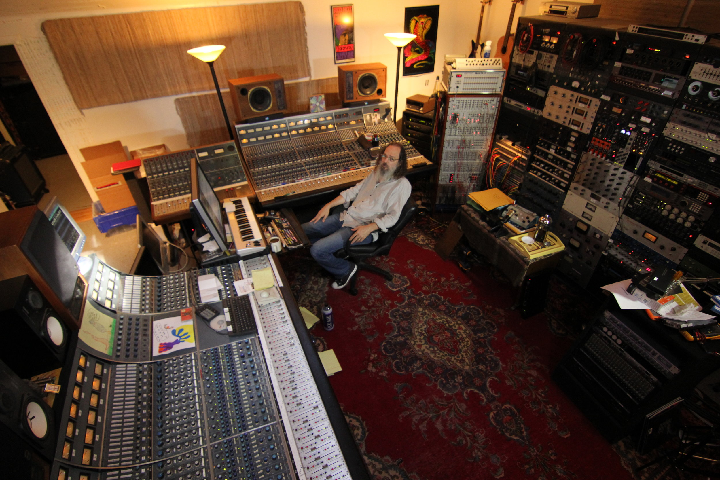 Andrew in his now old studio, Punkerpad West