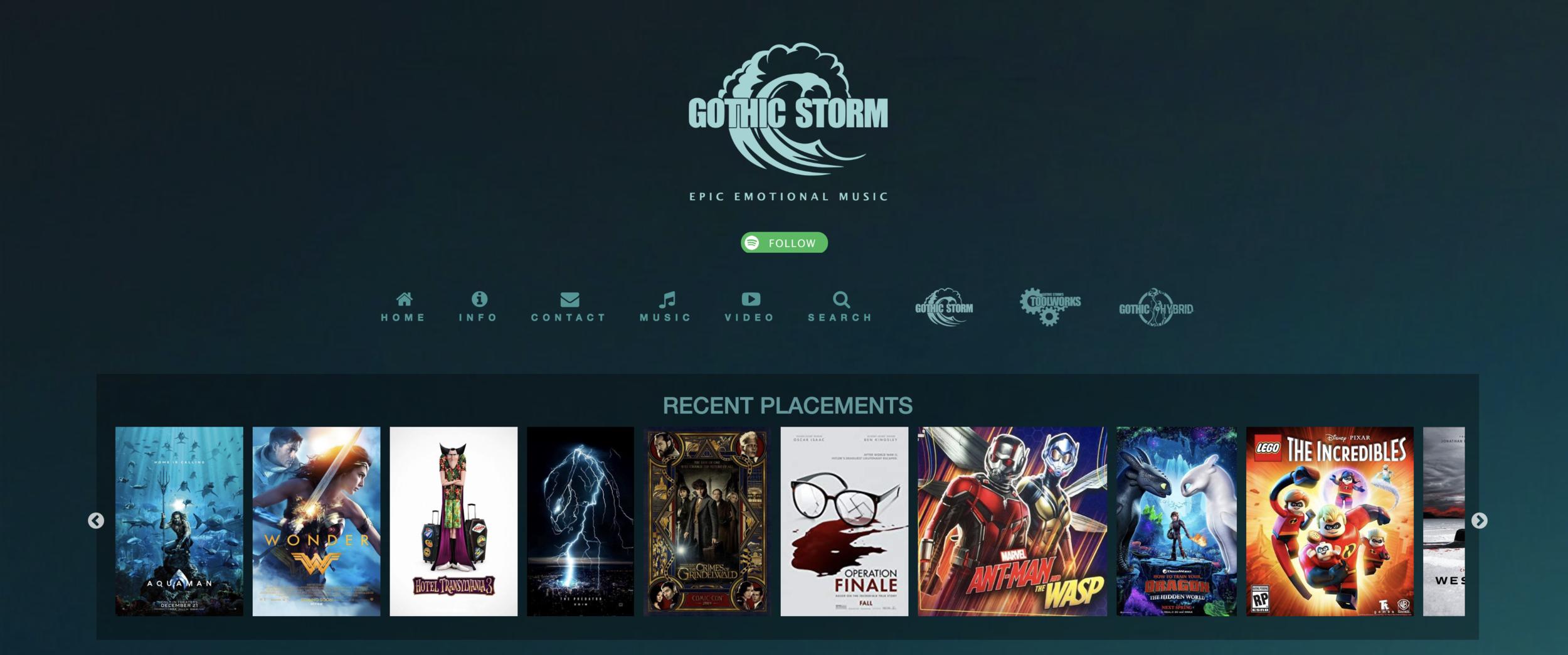 Gothic Storm's Website