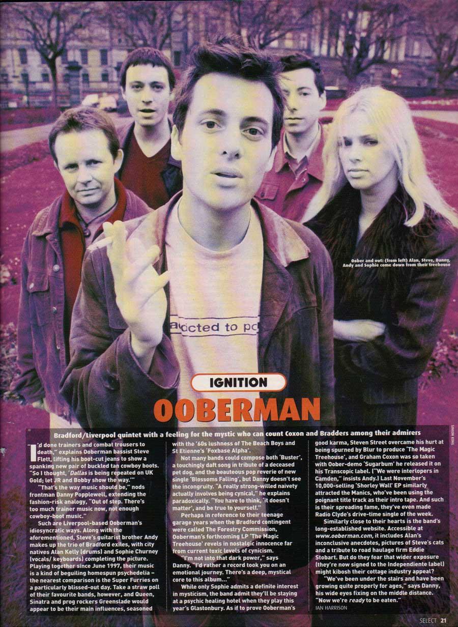 Dan's band, Ooberman.
