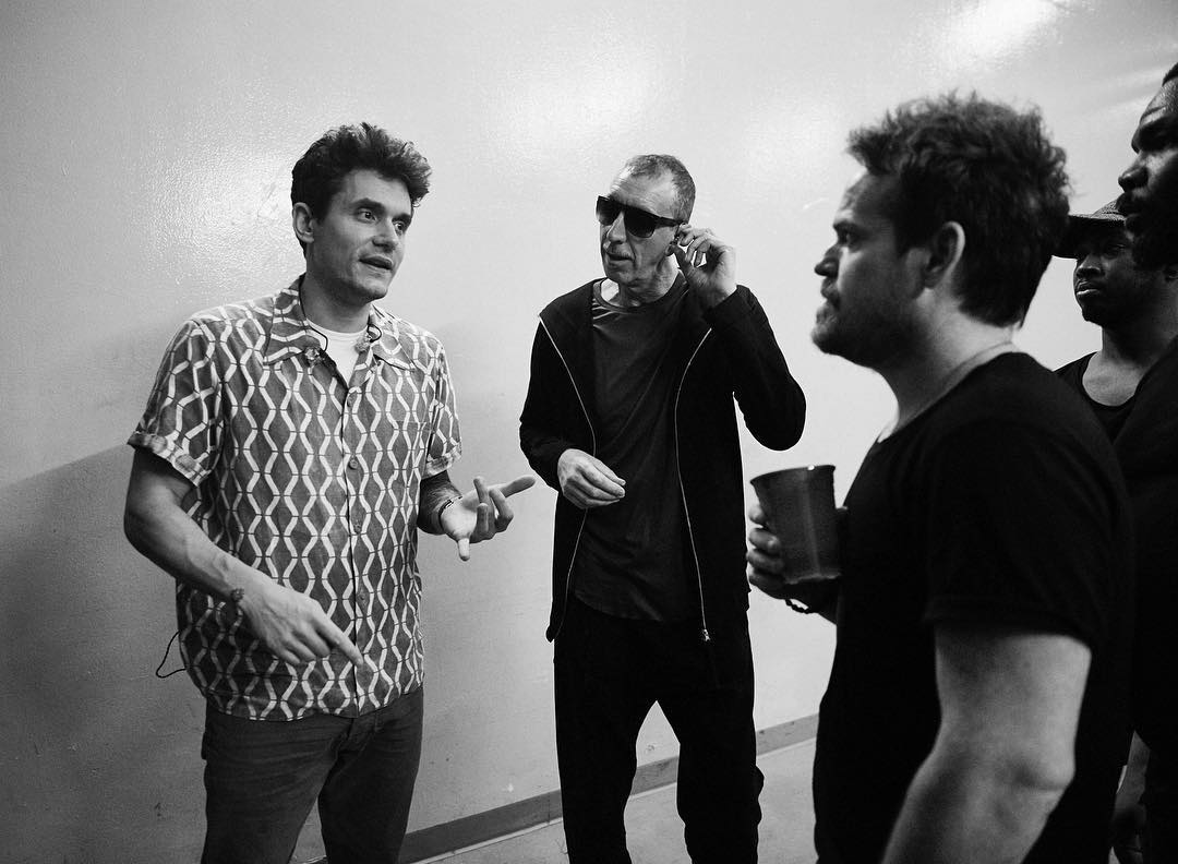 Sterling hanging out with Mayer and the king of bass - Pino Palladino