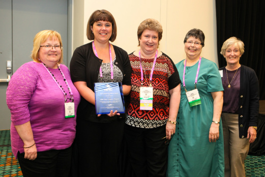 - APIC-WV Leaders accept the 2015 Chapter Excellence Award in Nashville, TN. (left to right, Kit Reed, Secretary, Sarah McClanahan, President, Sharon Winefordner, President-Elect, and Sharon Gaston, Treasurer)