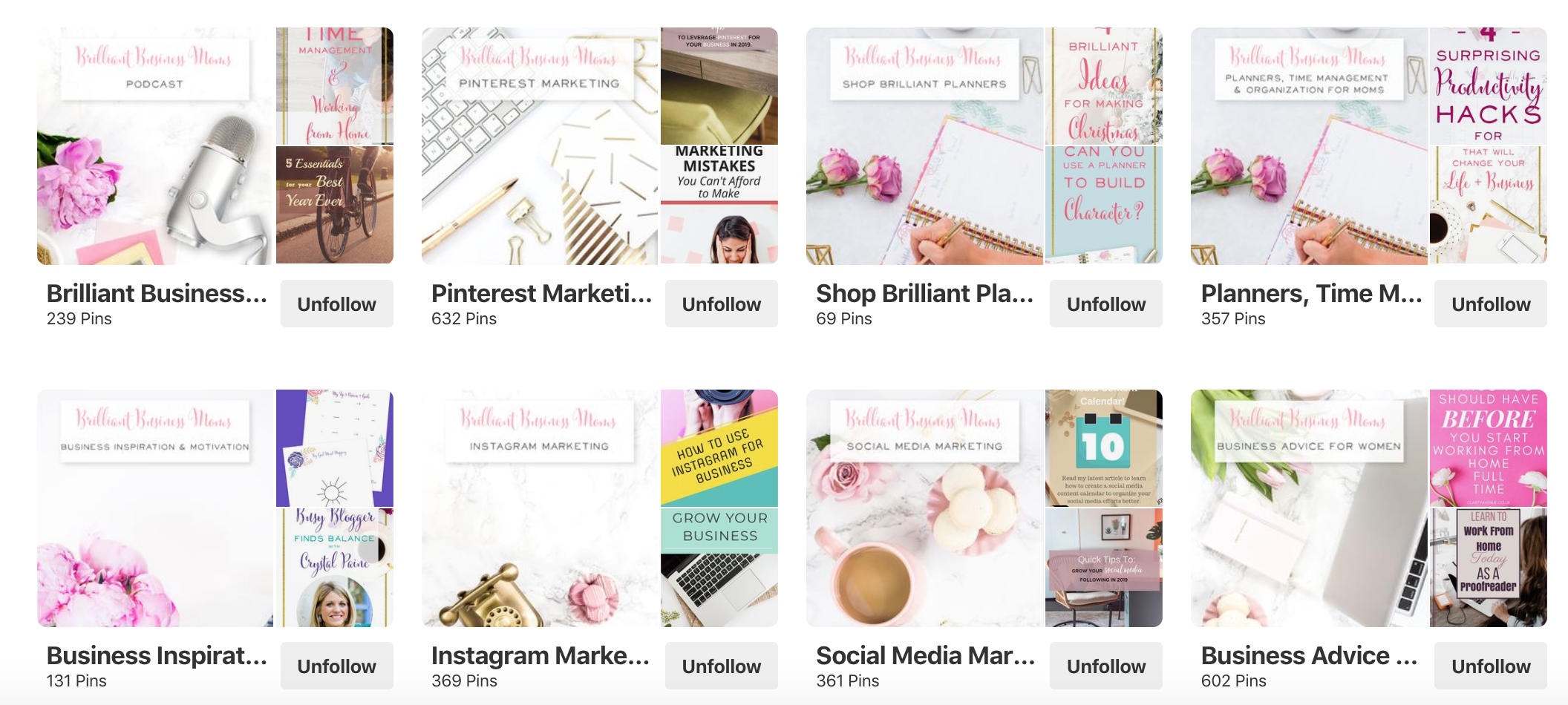 Pinterest Board Cover Ideas - Brilliant Business Moms