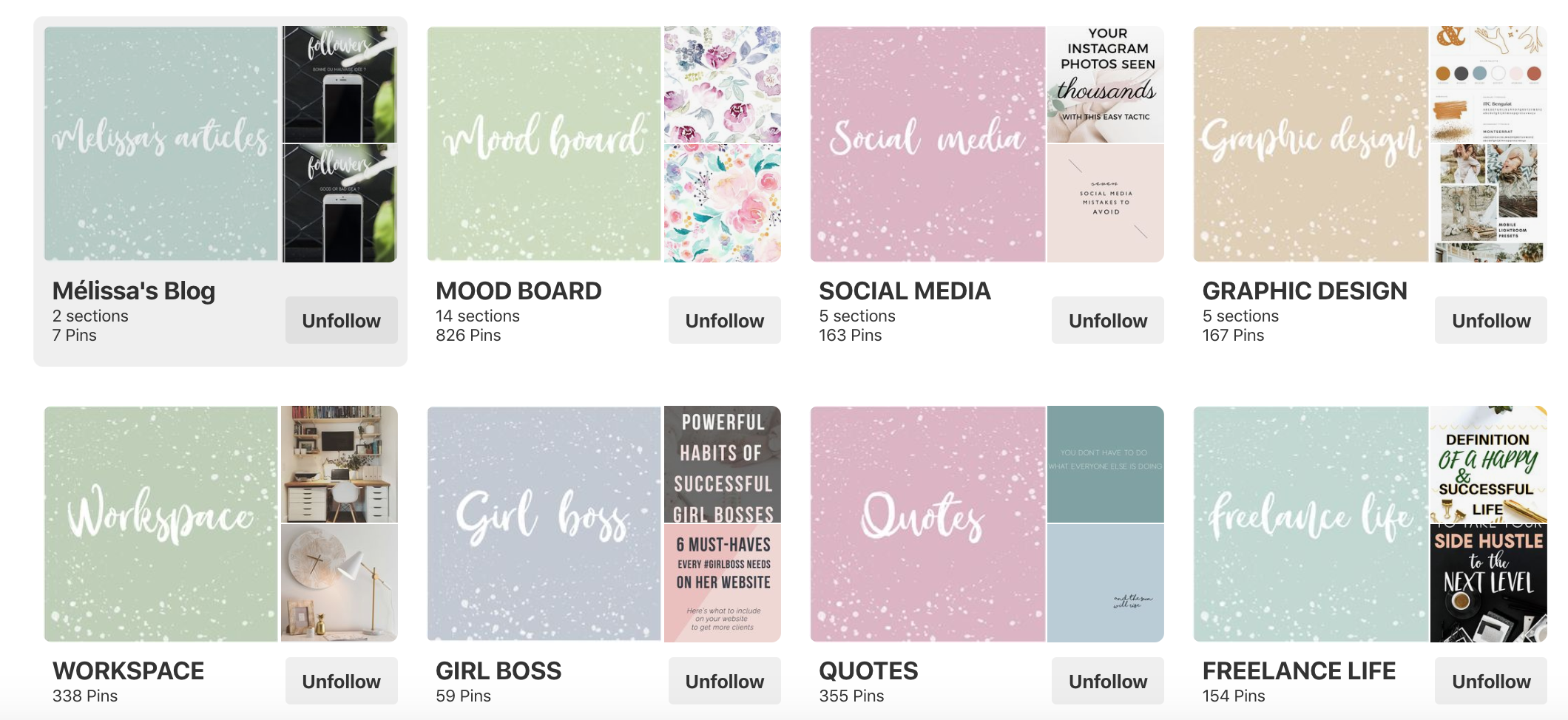 Pinterest Board Cover Ideas - Melissa Bellon