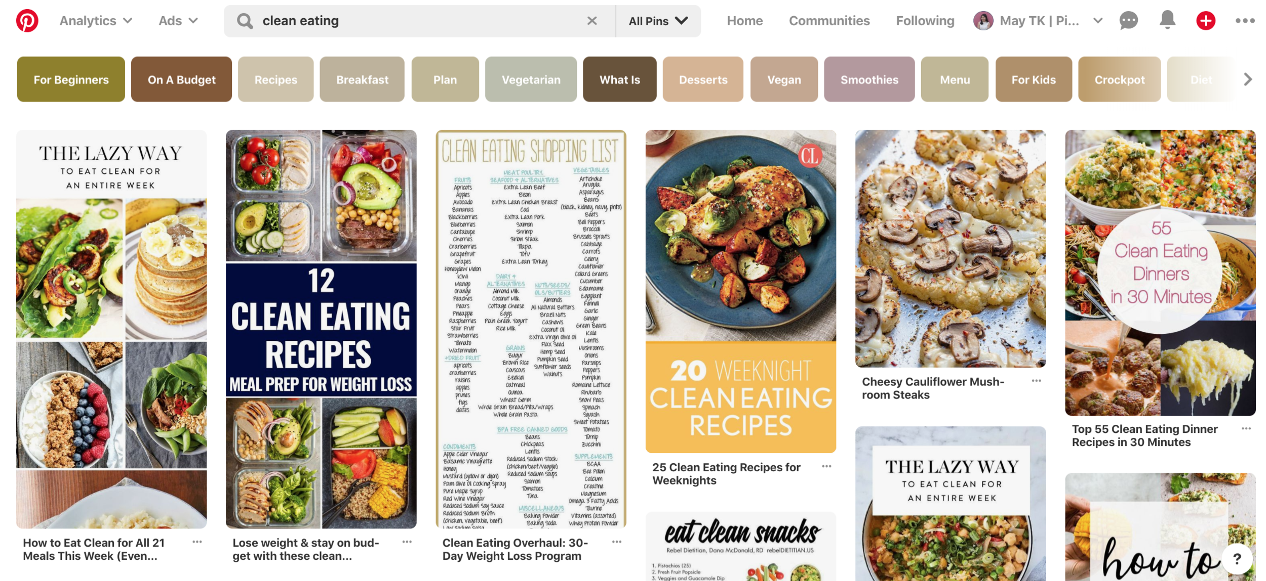 Pinterest search results for clean eating - Untangled Pinterest Marketing for bloggers and Content Creators