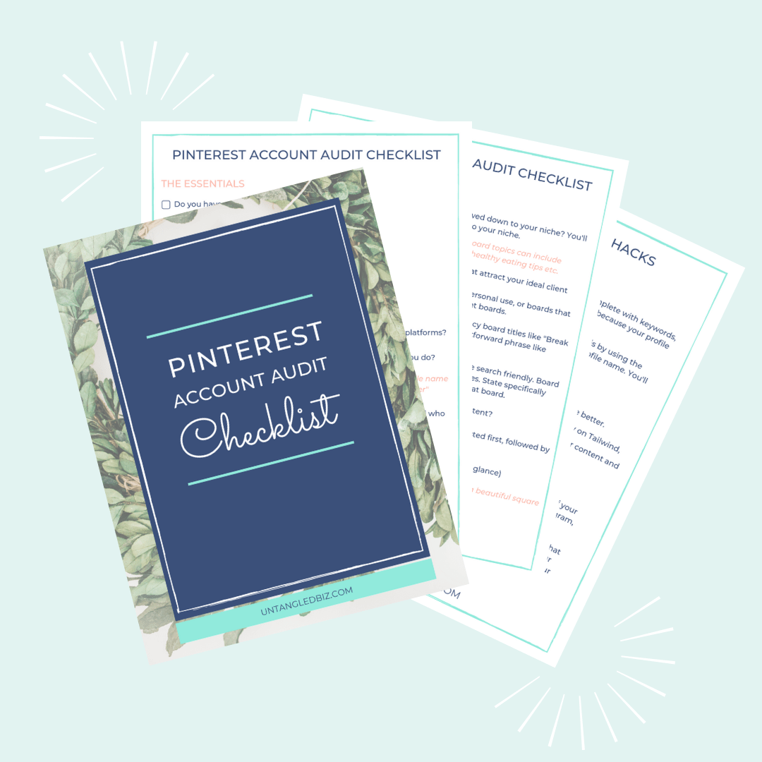Pinterest Account Audit Checklist - Untangled Pinterest Marketing