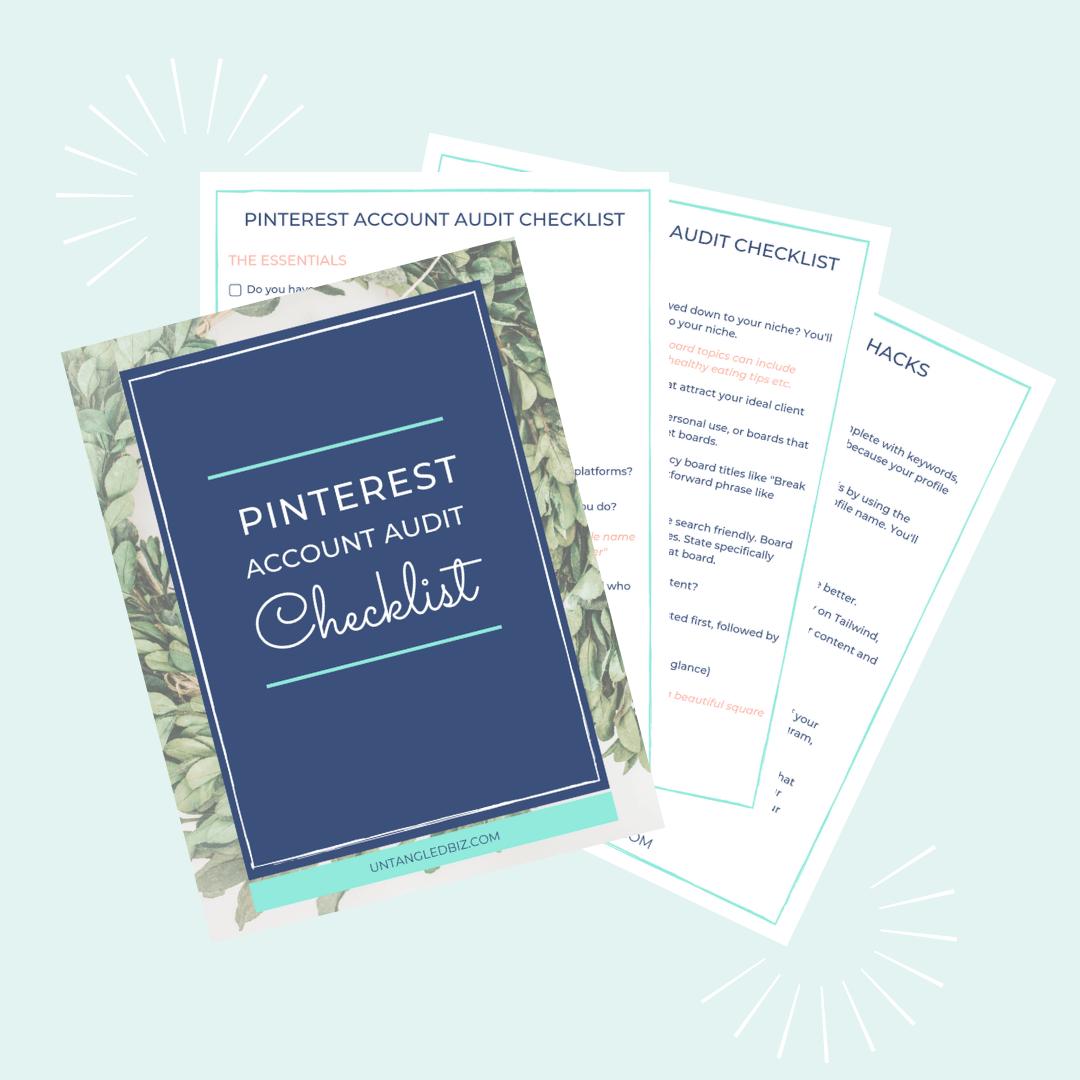 Pinterest Account Audit Checklist - Untangled Pinterest Marketing