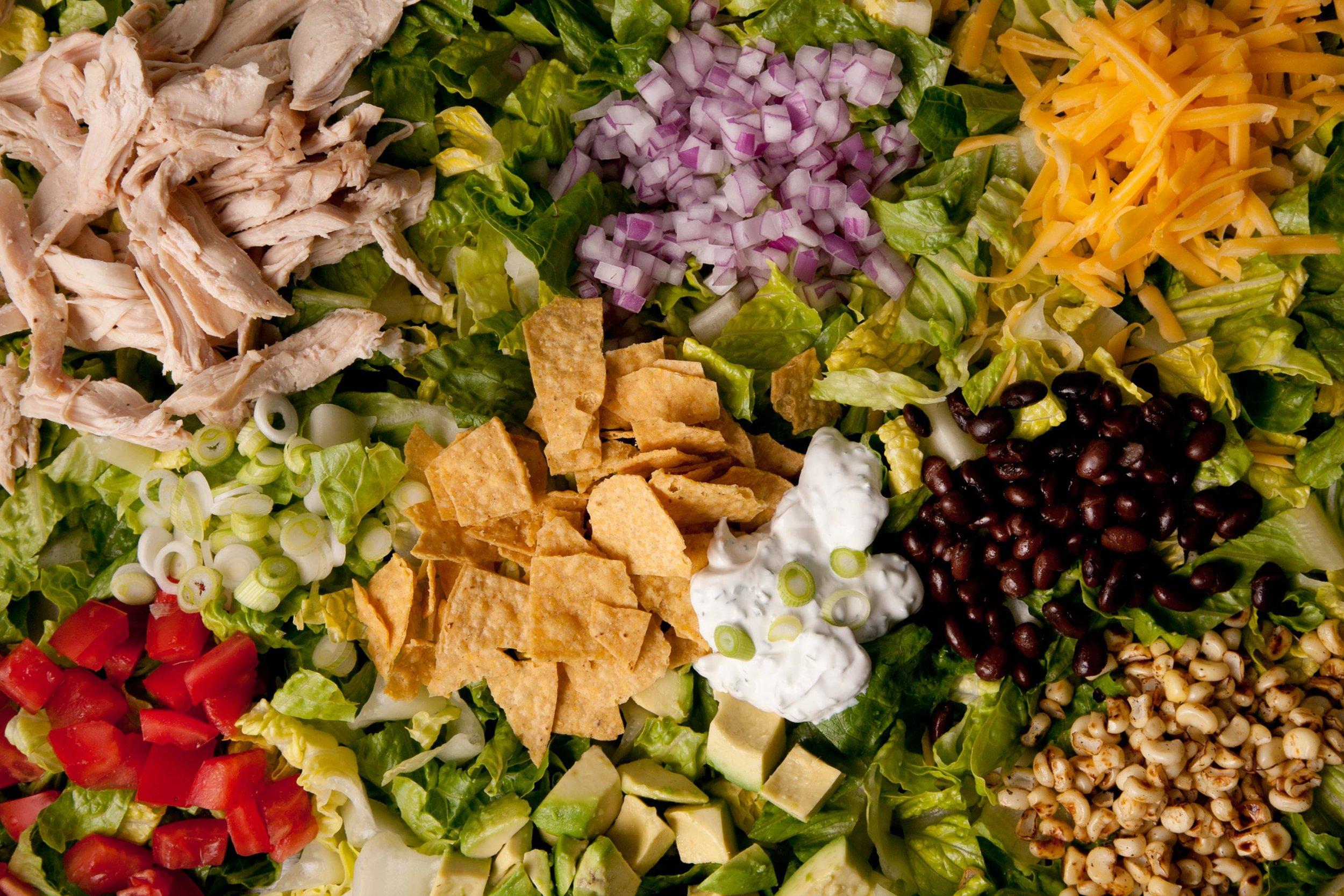 Poblano Veggie Taco Salad