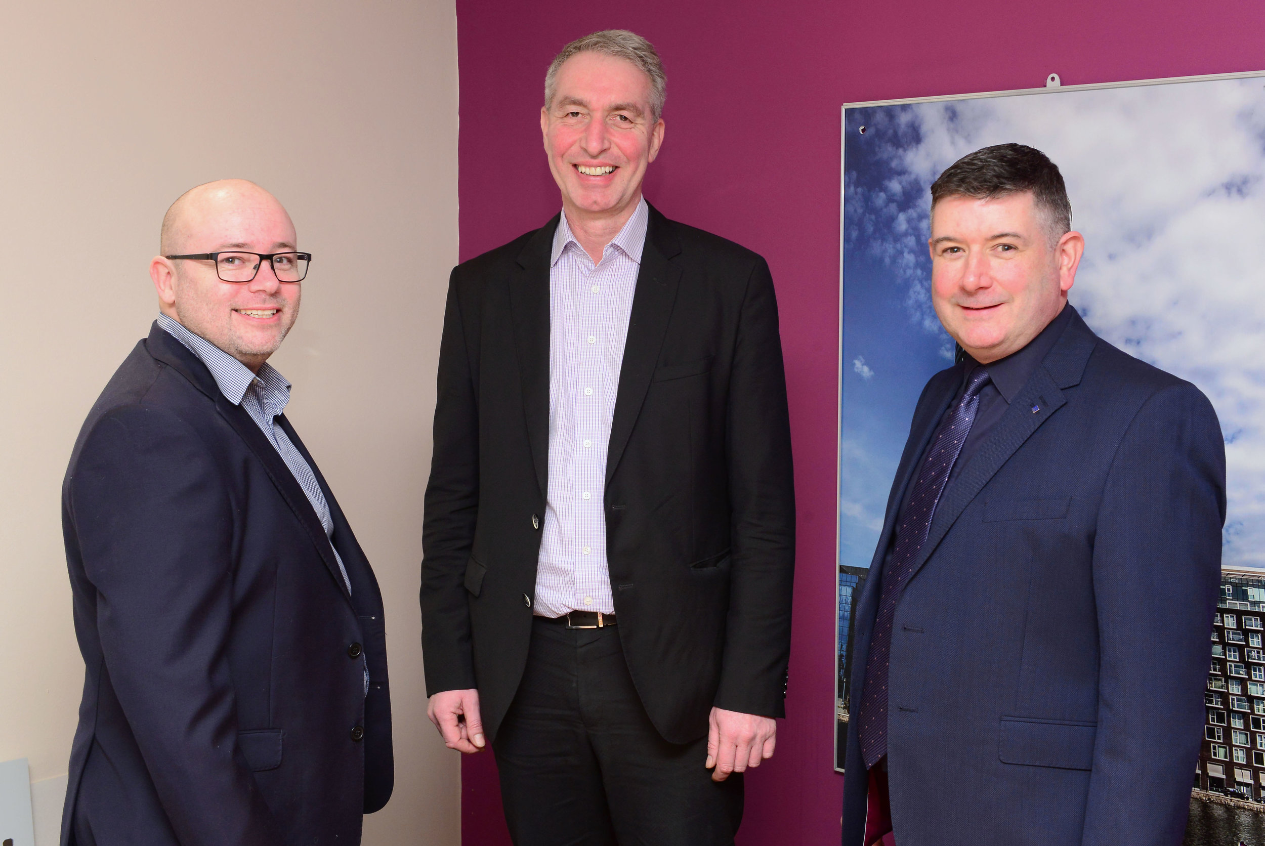 L-R – Richard Gibbs, operations director; Angus Mackie, group managing director and John Park- Davies, managing director.
