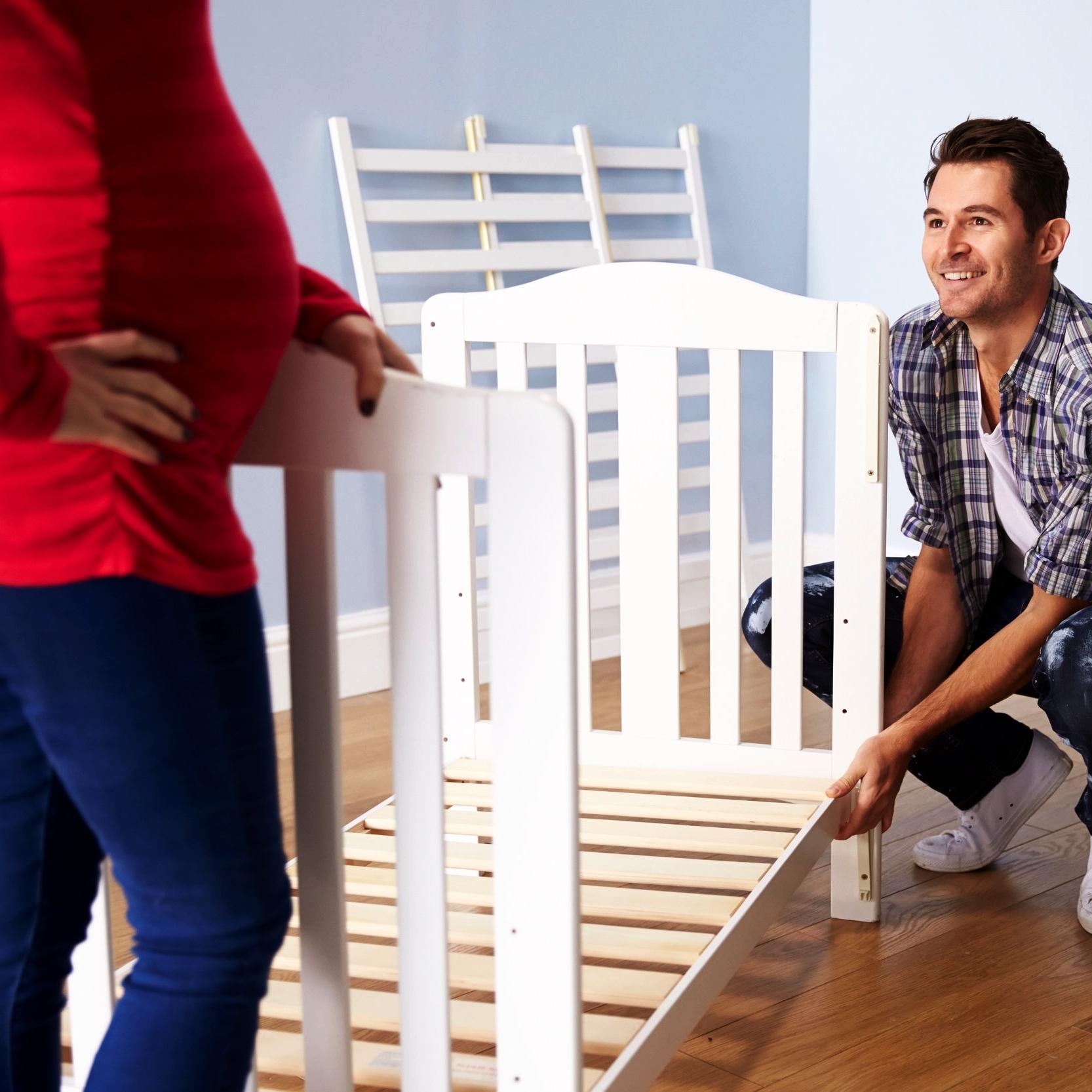 Assembling a crib