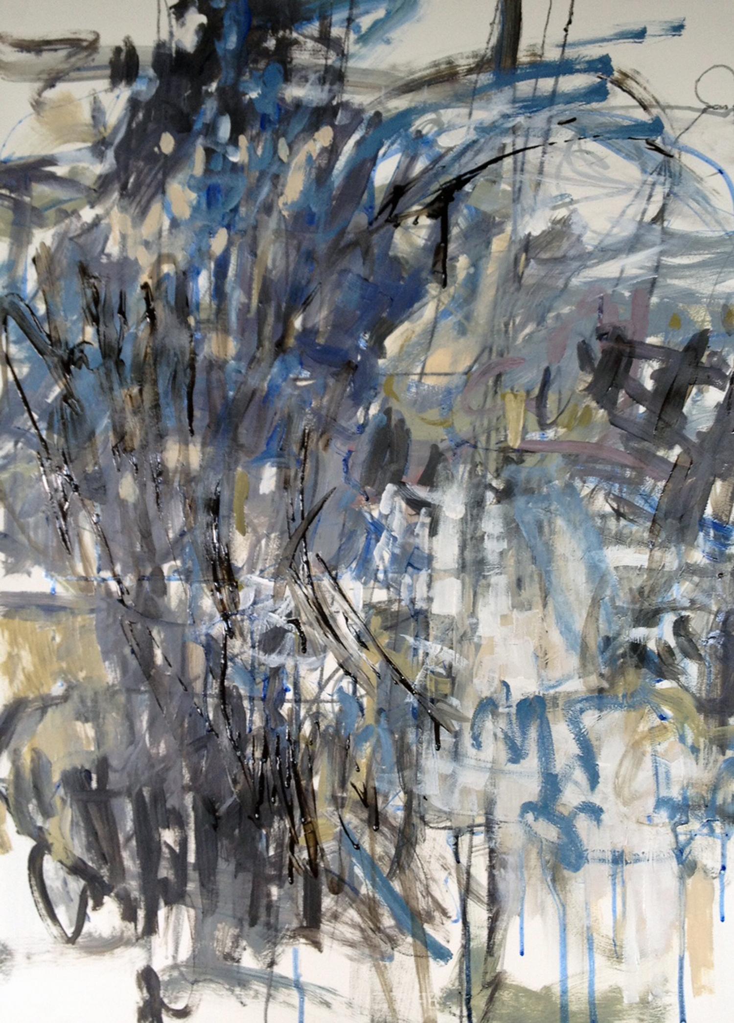 "RESPONSE  30"" x 22"" Acrylic/Mixed Media on Watercolor Paper"