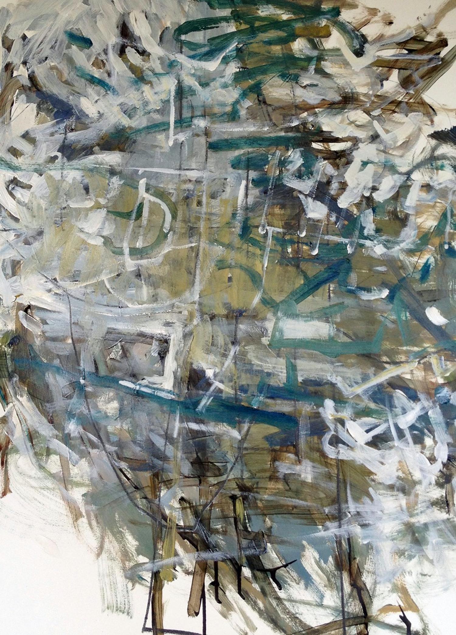 "EFFUSION  30"" x 22"" Acrylic/Mixed Media on Watercolor Paper"