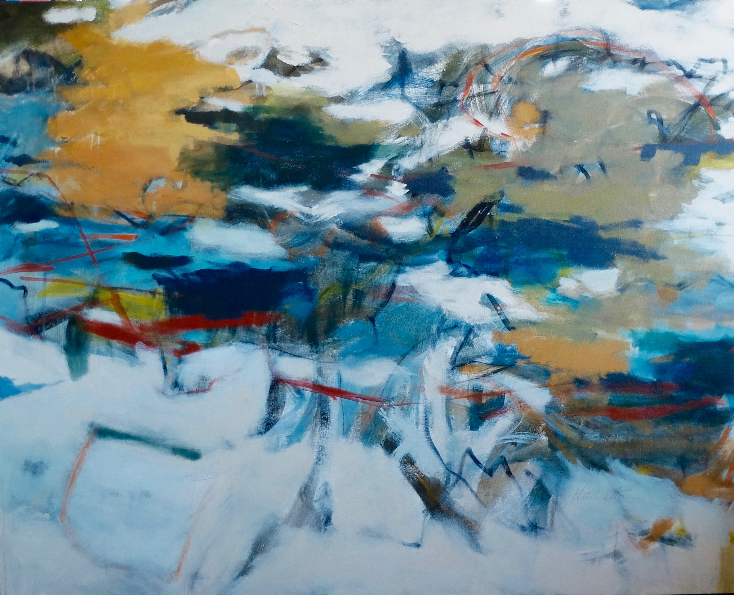 "SPIRITUAL 48"" x 60"" Acrylic/Mixed Media on Canvas"