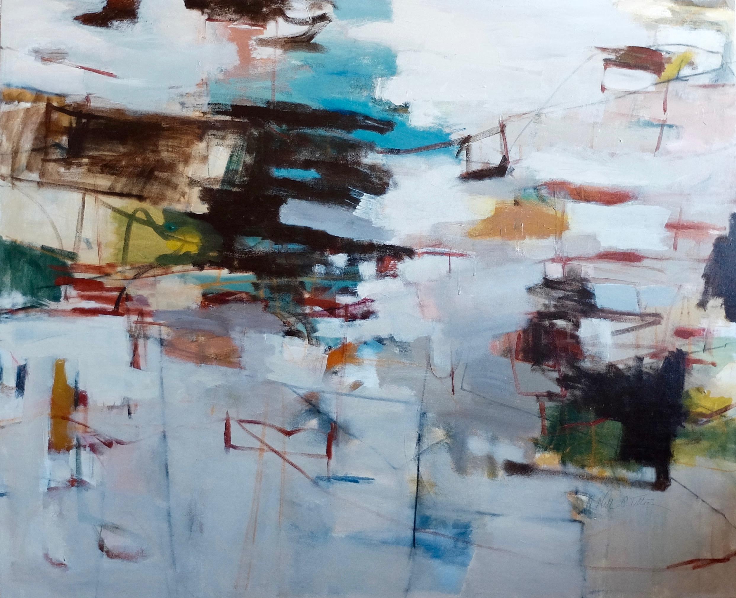 """DREAMING 44.5"""" x 54"""" Acrylic/Mixed Media on Canvas"""
