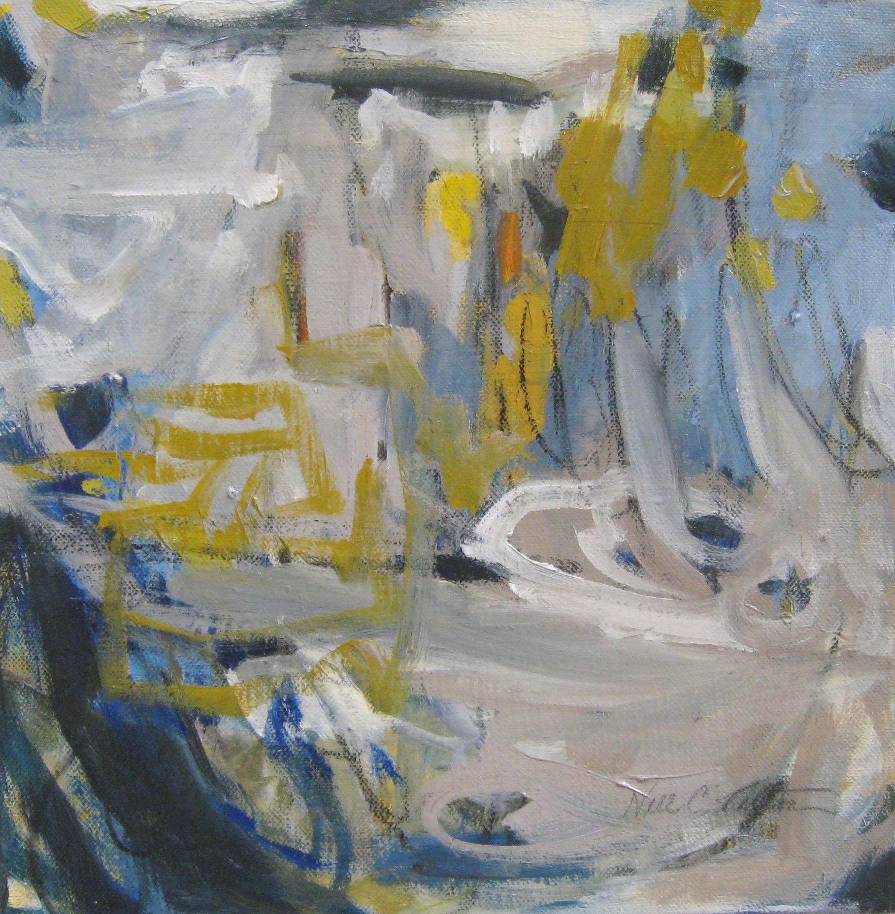 "GROOVY 12"" x 12"" Acrylic/Mixed Media on Canvas"