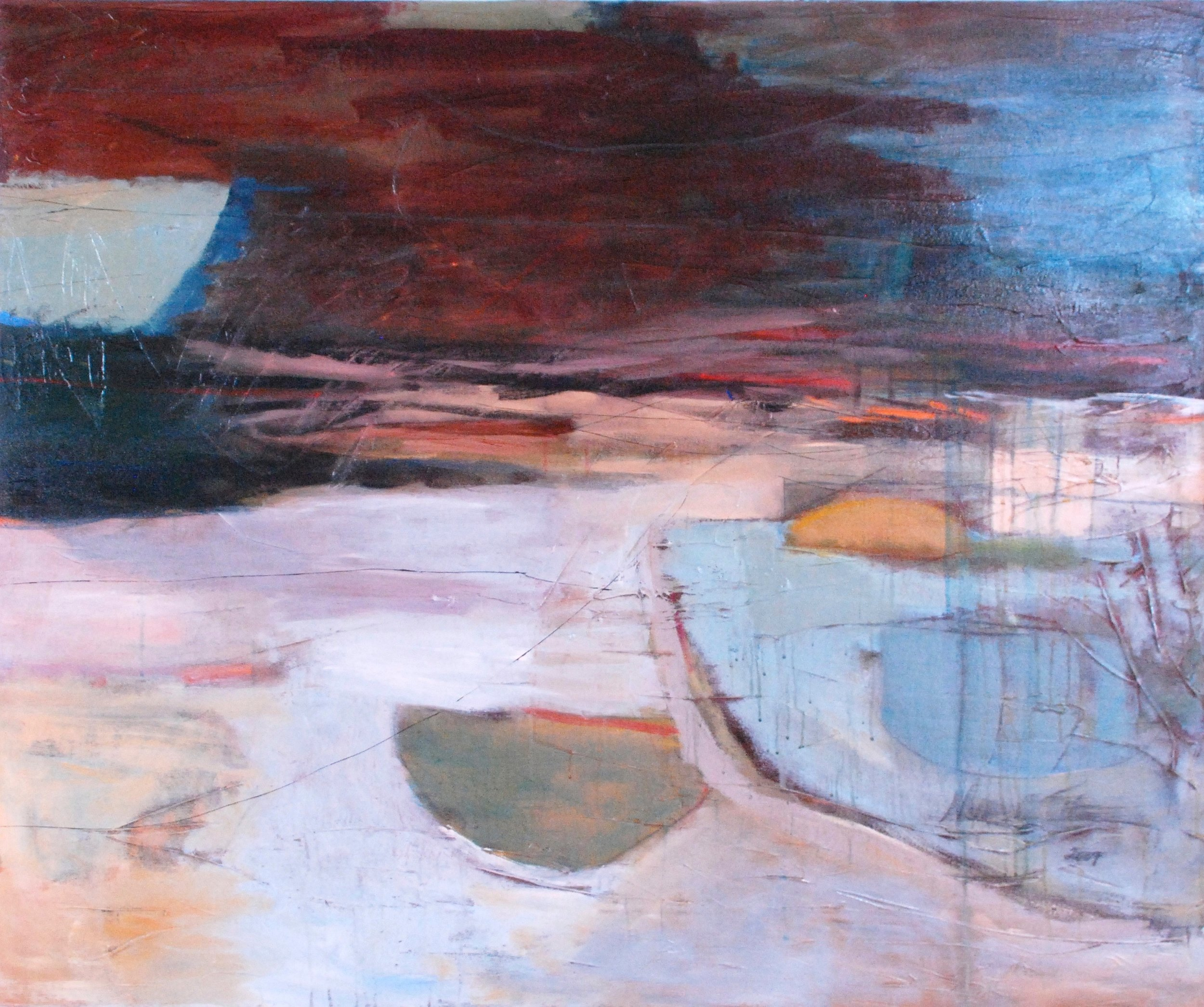 "Sold  VESSELS II (diptych) 36"" x 48"" Acrylic/Mixed Media on Canvas"