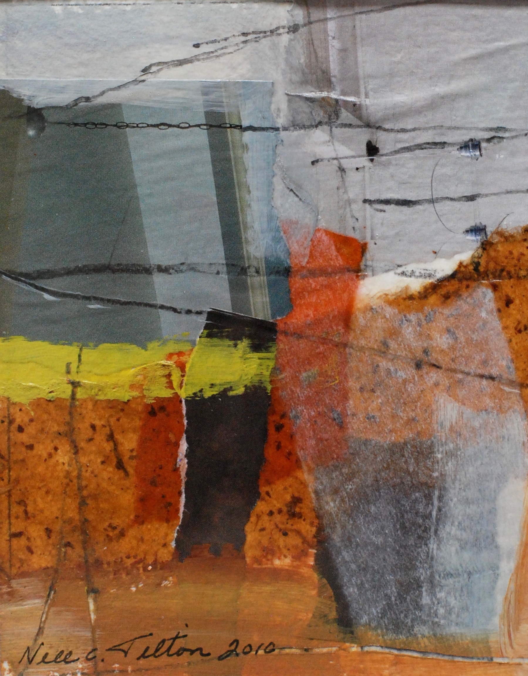 """LOST 5"""" x 4"""" Collage/Mixed Media on Paper"""