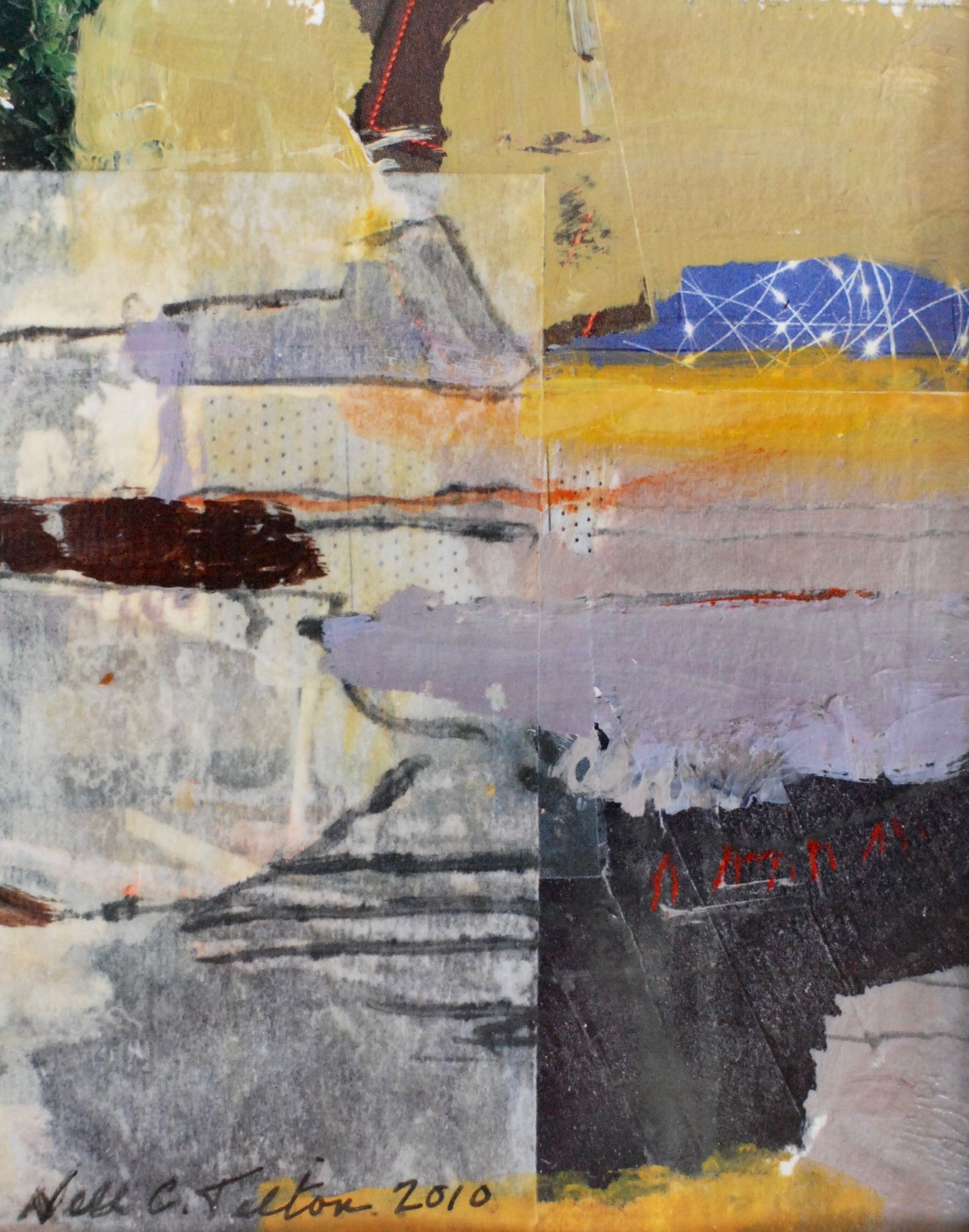 """WONDERMENT 5"""" x 4"""" Collage/Mixed Media on Paper"""