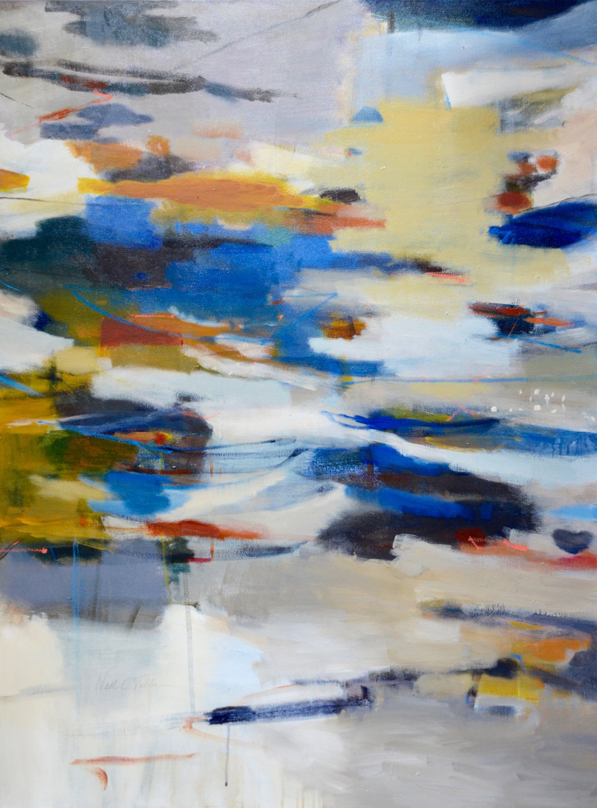 DRIFTING  48 x 36  Acrylic/Mixed Media on Canvas