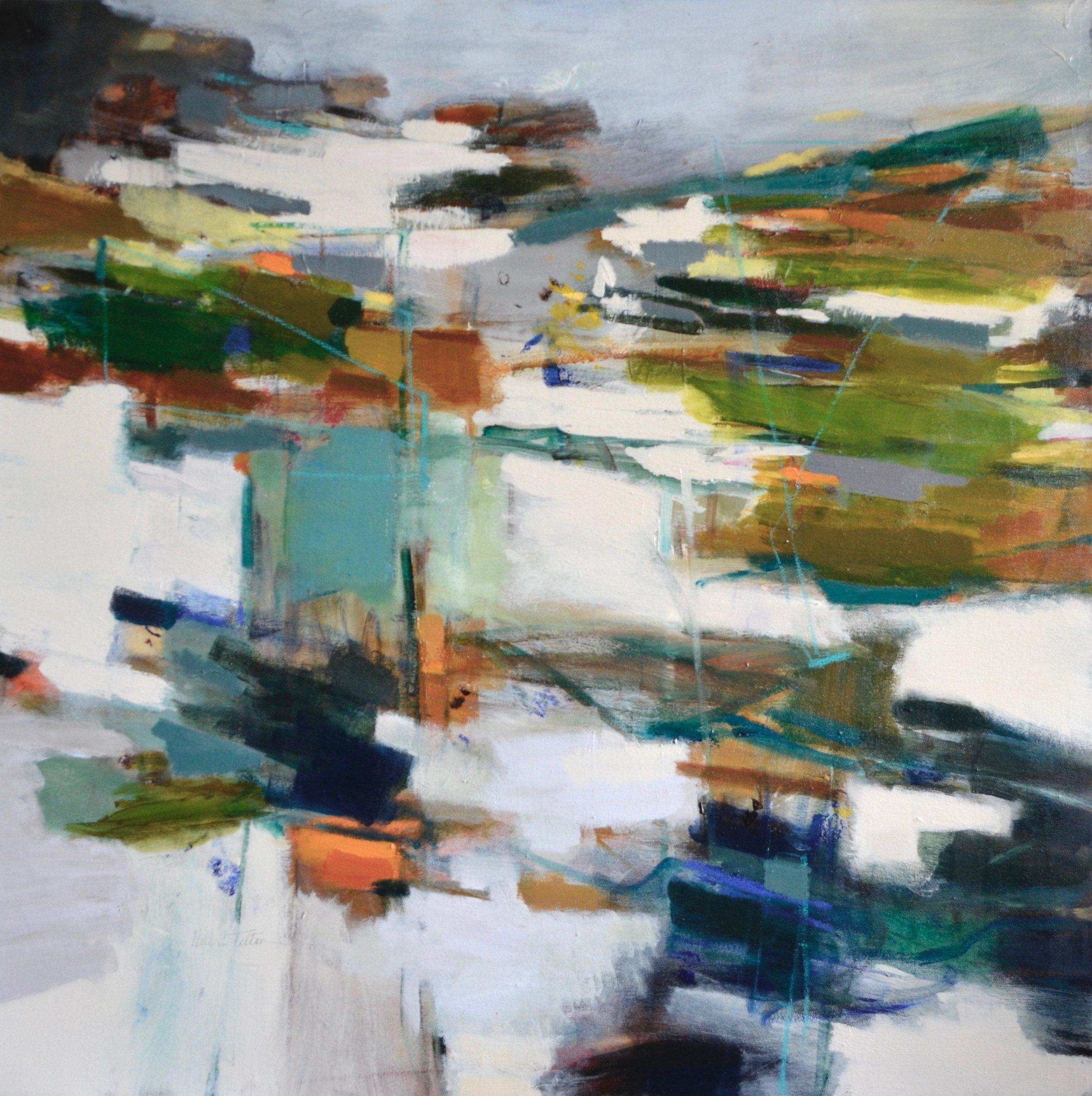RHYTHMS OF THE LAND  36 x 36 Acrylic/Mixed Media on Canvas