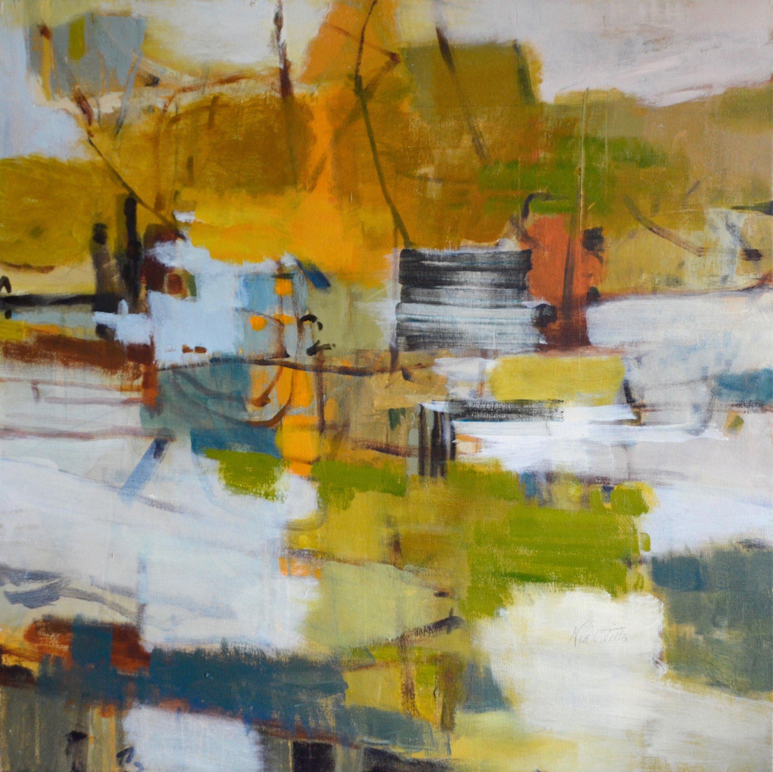 FEELING THE IONS  36 x 36 Acrylic/Mixed Media on Canvas
