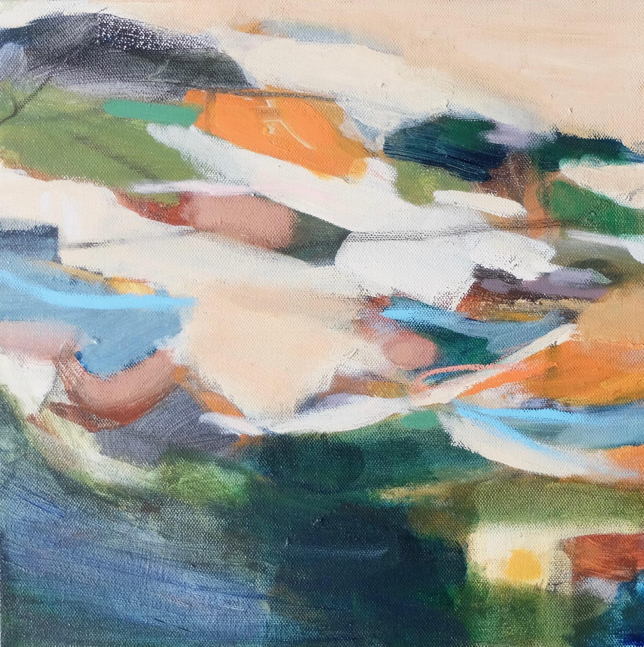 IMPRINTS 3  12 x 12 Framed/Acrylic/Mixed Media on Canvas