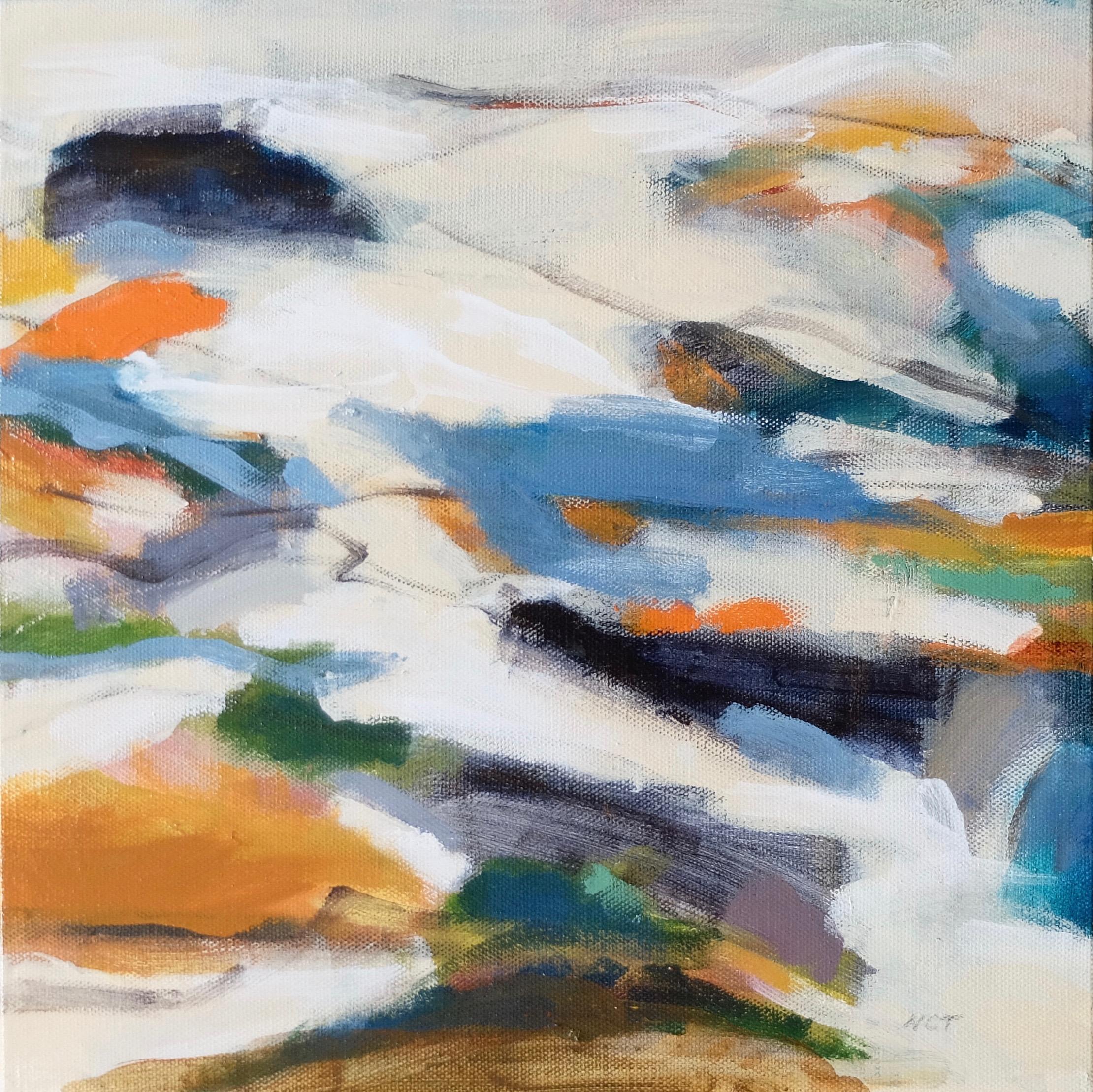 IMPRINTS 2  12 x 12 Framed/Acrylic/Mixed Media on Canvas