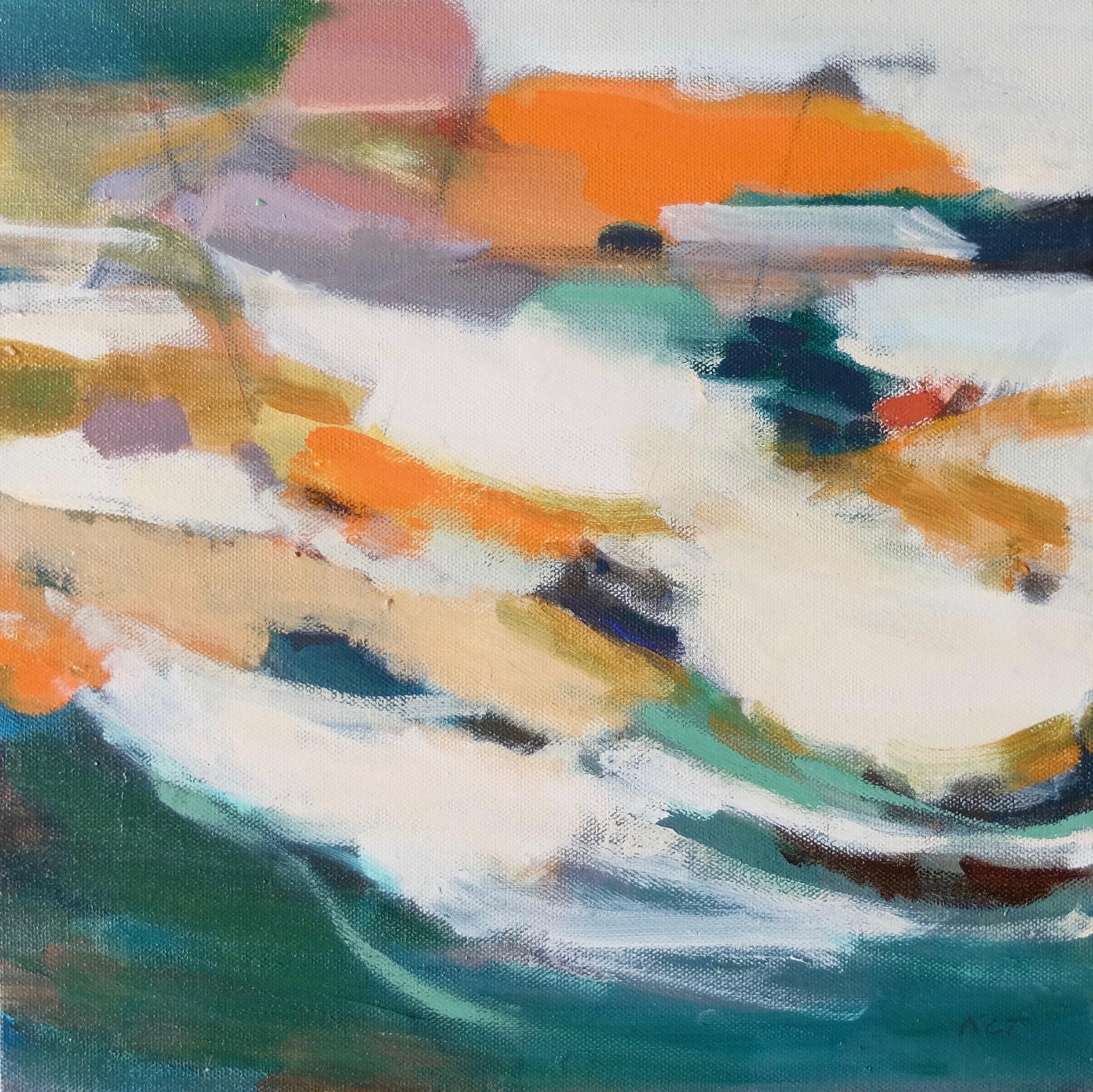 IMPRINTS 4  12 x 12 Framed/Acrylic/Mixed Media on Canvas
