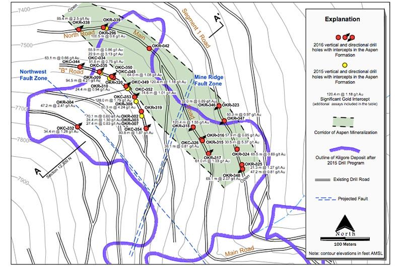 Aspen Corridor map at Kilgore