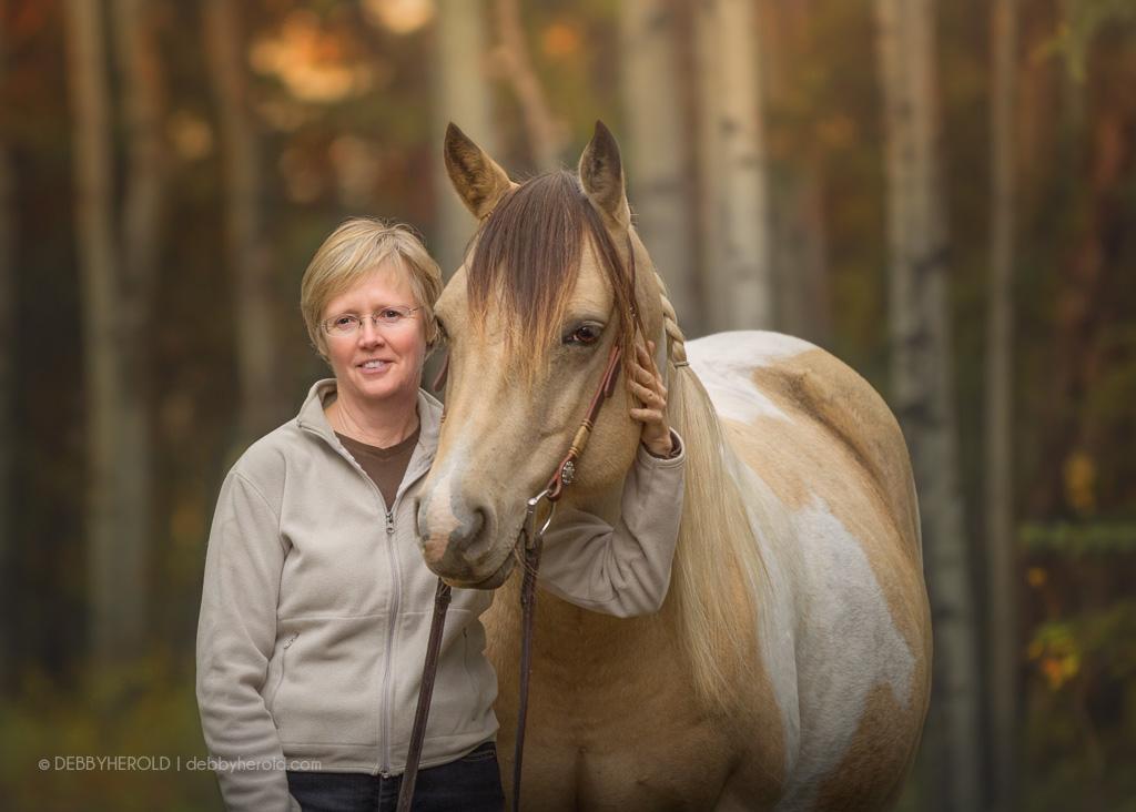 Portrait with Buckskin Paint Horse
